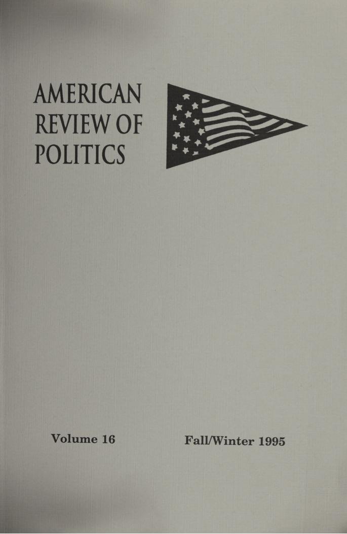 View Vol. 16: Winter 1995