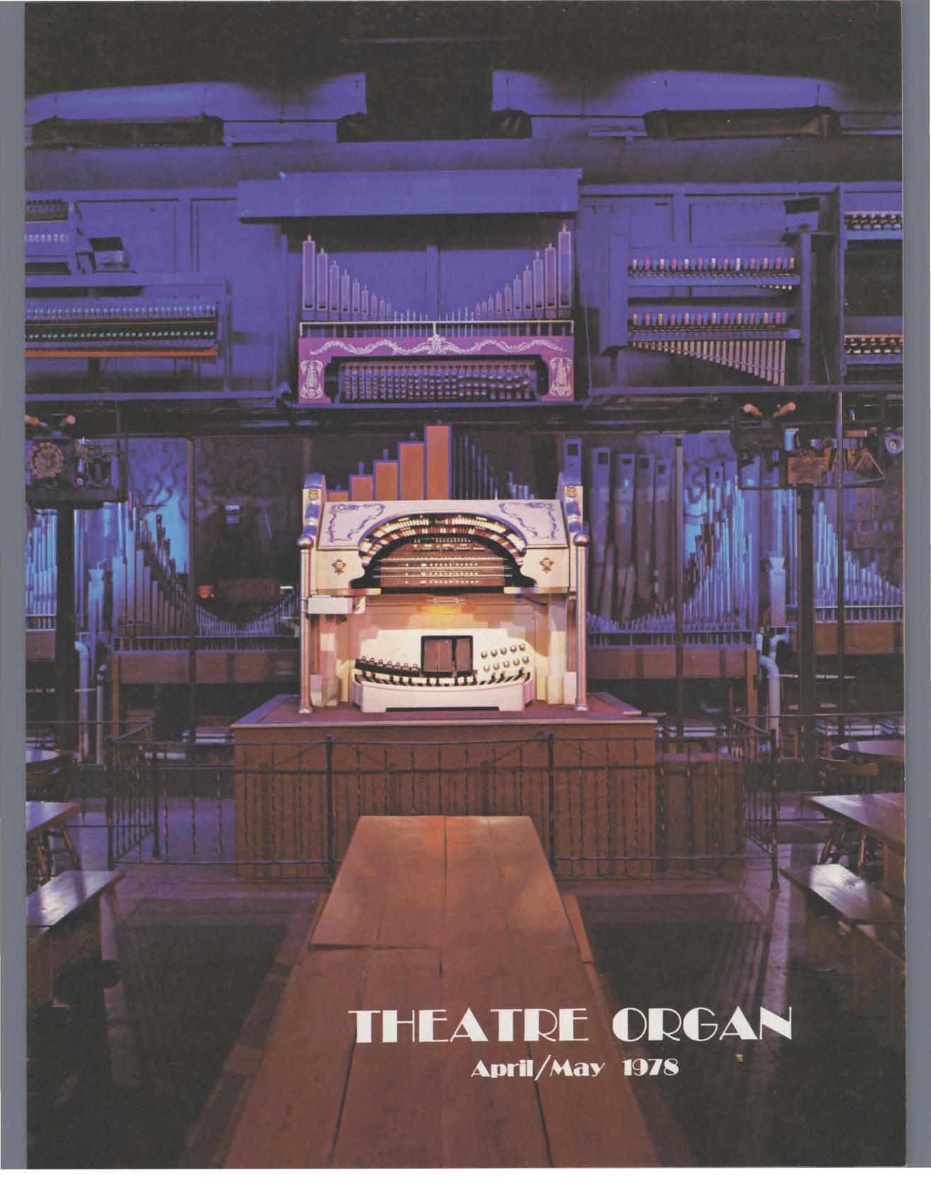 Theatre Organ, April - May 1978, Volume 20, Number 2