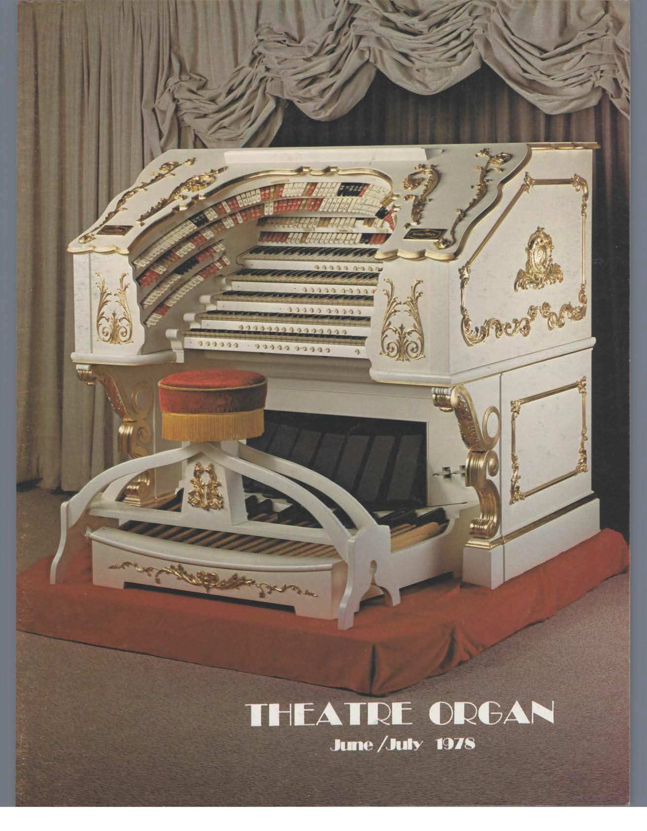 Theatre Organ, June - July 1978, Volume 20, Number 3