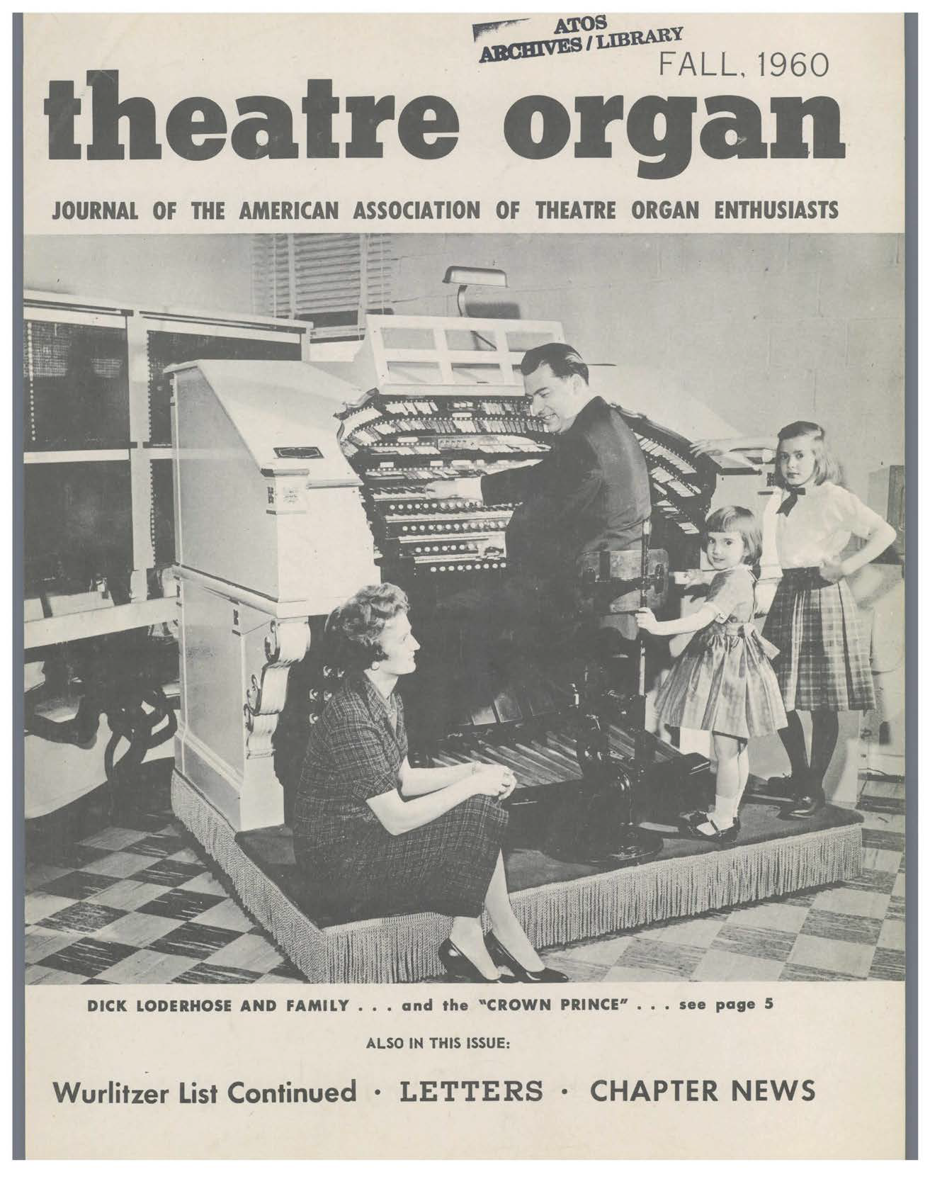 Theatre Organ, Fall 1960, Volume 2, Number 3