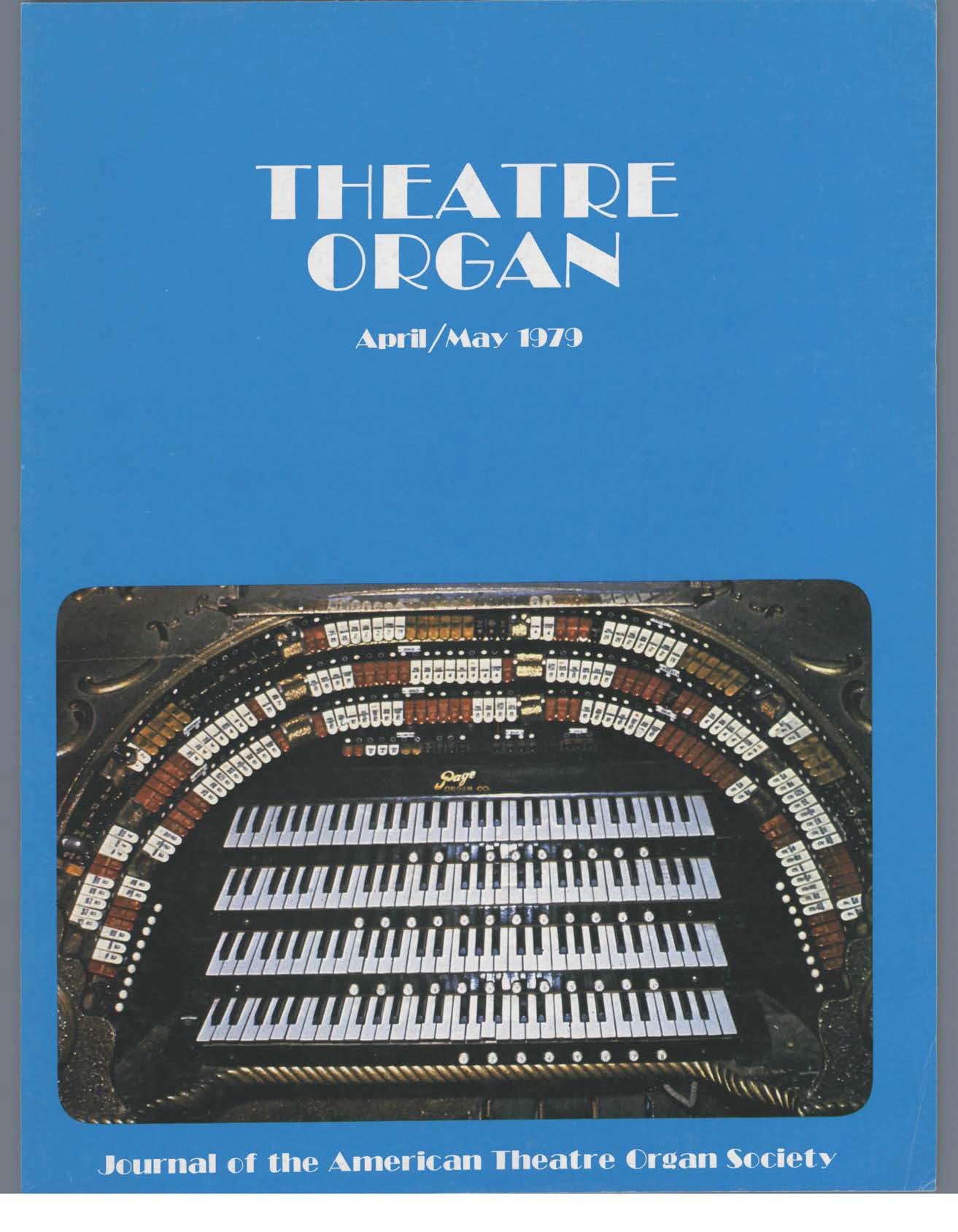 Theatre Organ, April - May 1979, Volume 21, Number 2