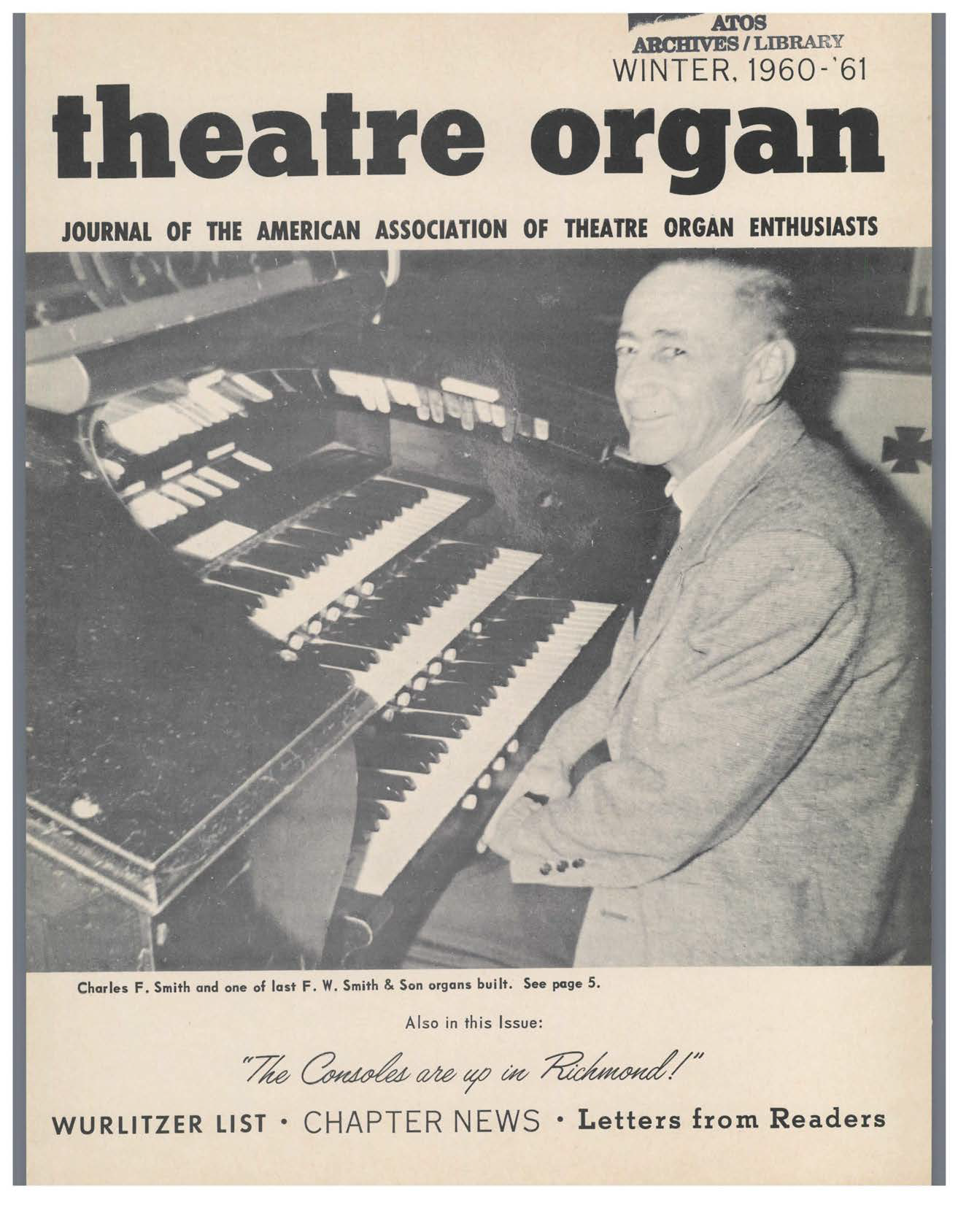 Theatre Organ, Winter 1960, Volume 2, Number 4
