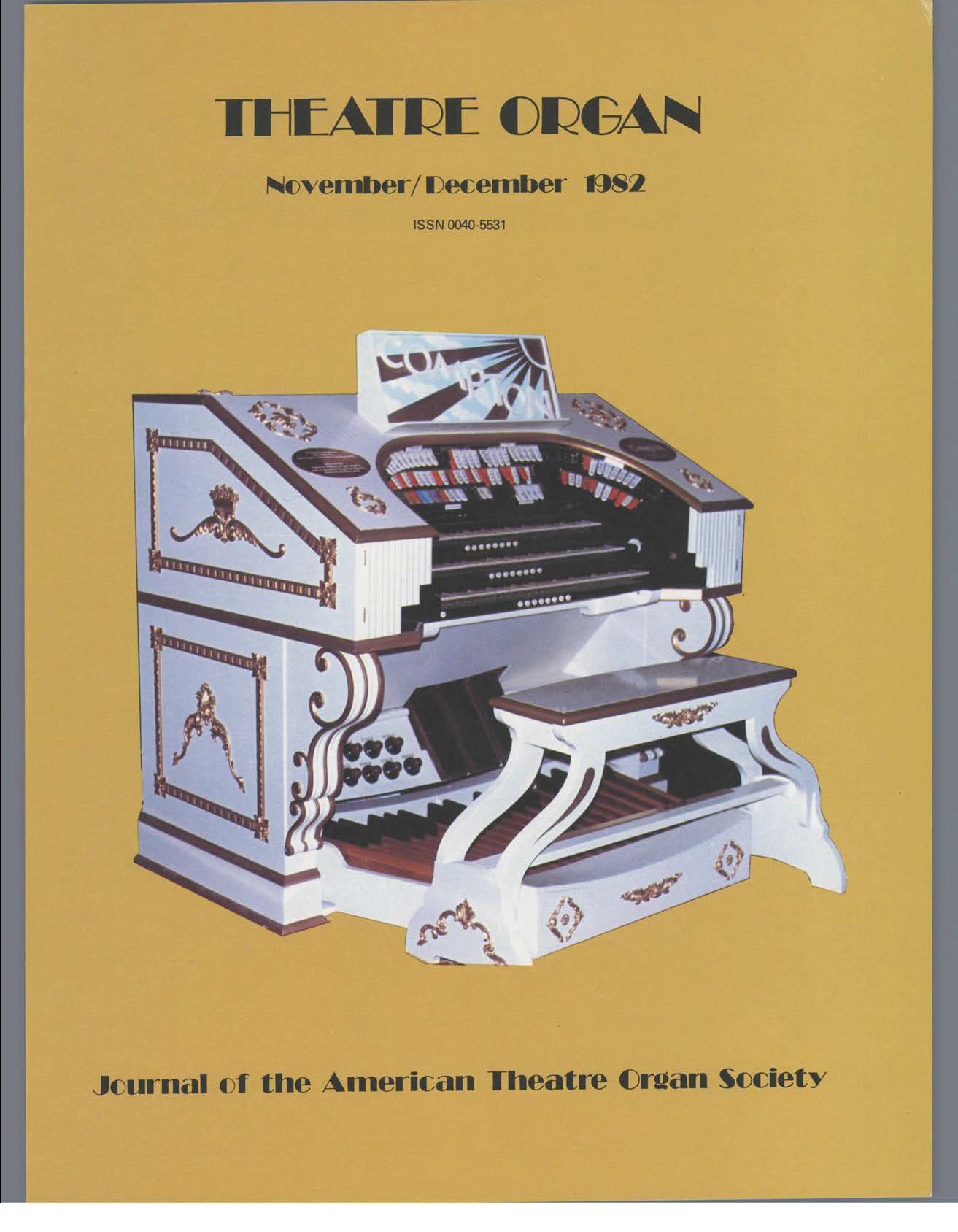 Theatre Organ, November - December 1982, Volume 24, Number 6