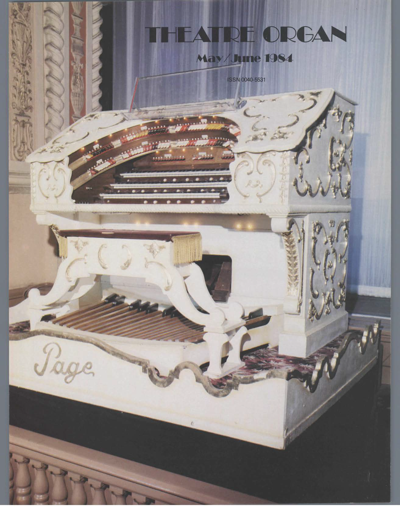 Theatre Organ, May - June 1984, Volume 26, Number 3