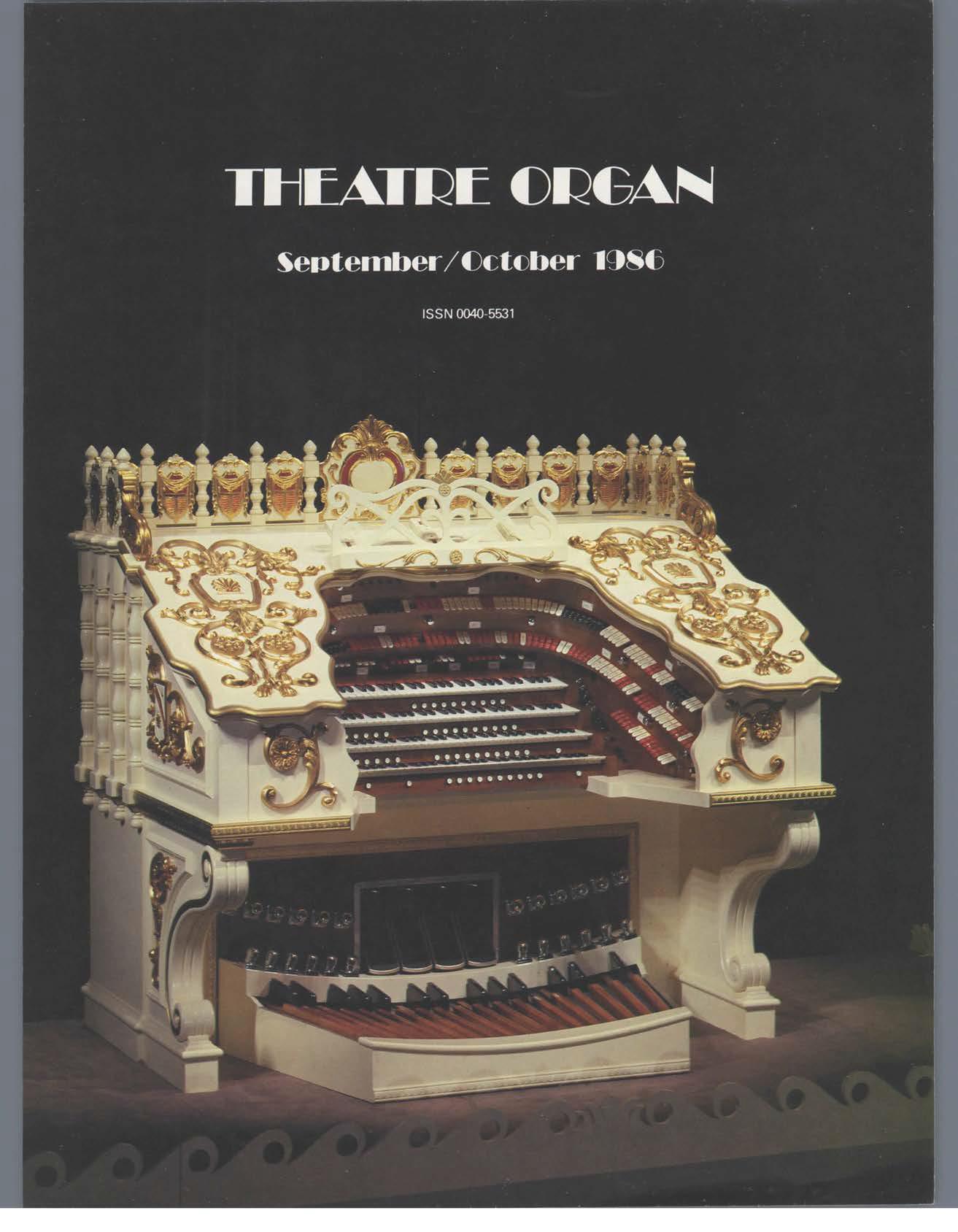 Theatre Organ, September - October, Volume 28, Number 5
