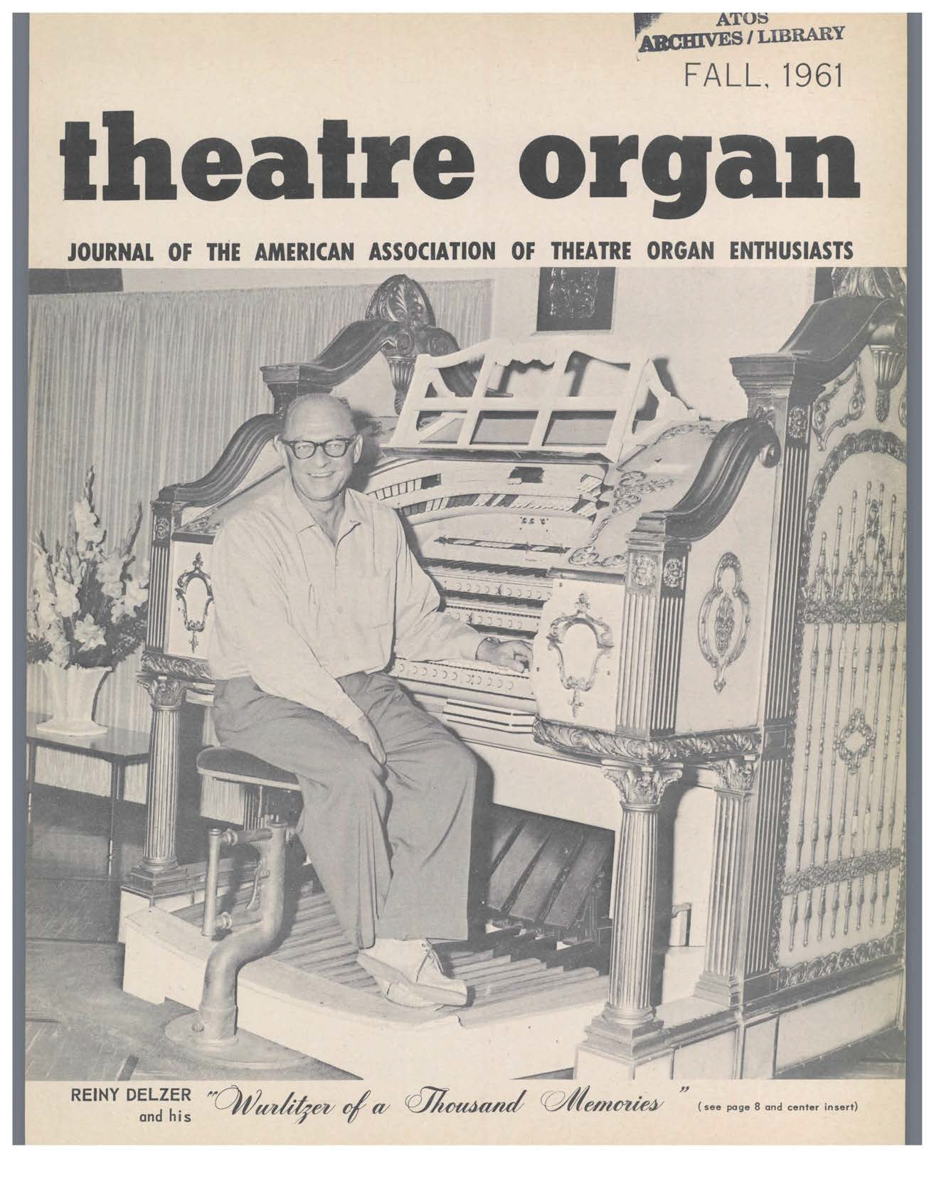Theatre Organ, Fall 1961, Volume 3, Number 3