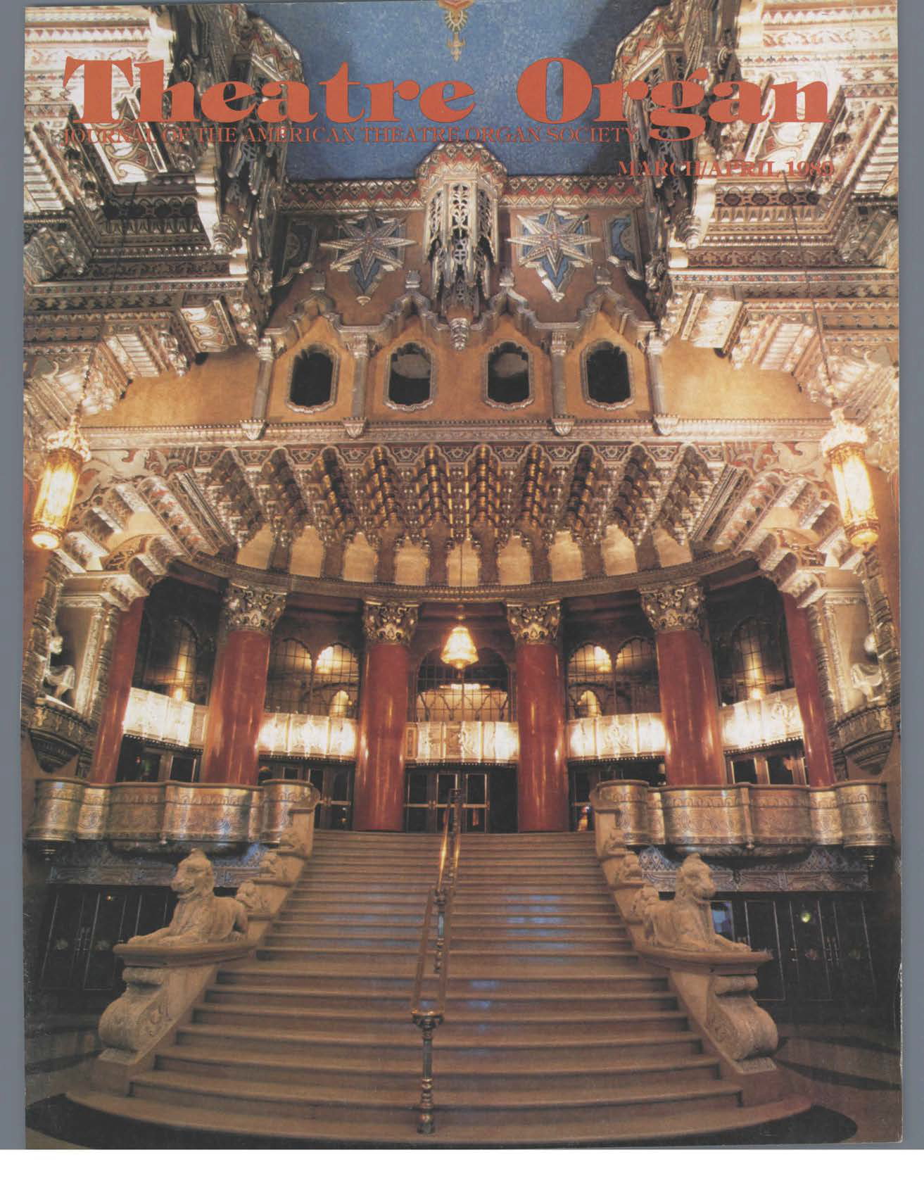 Theatre Organ, March - April 1989, Volume 31, Number 2