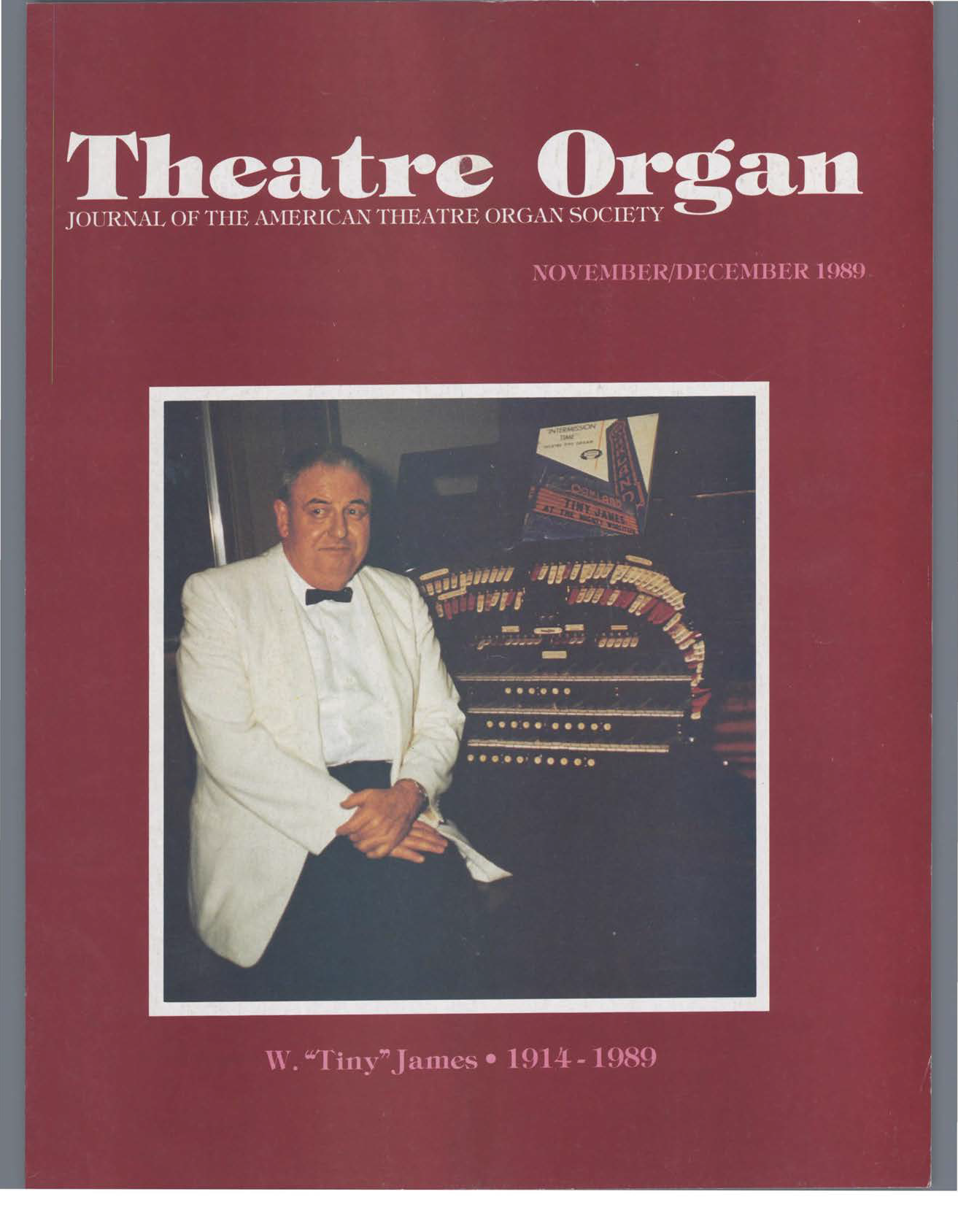Theatre Organ, November - December 1989, Volume 31, Number 6