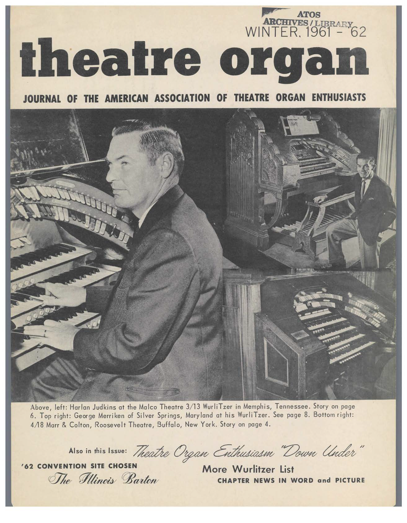 Theatre Organ, Winter 1961, Volume 3, Number 4
