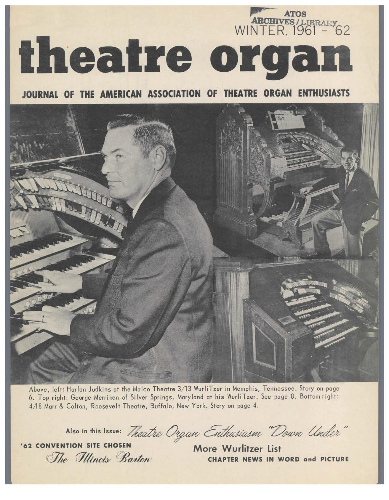 Theatre Organ, Winter 1961, Volume 3, Number 4