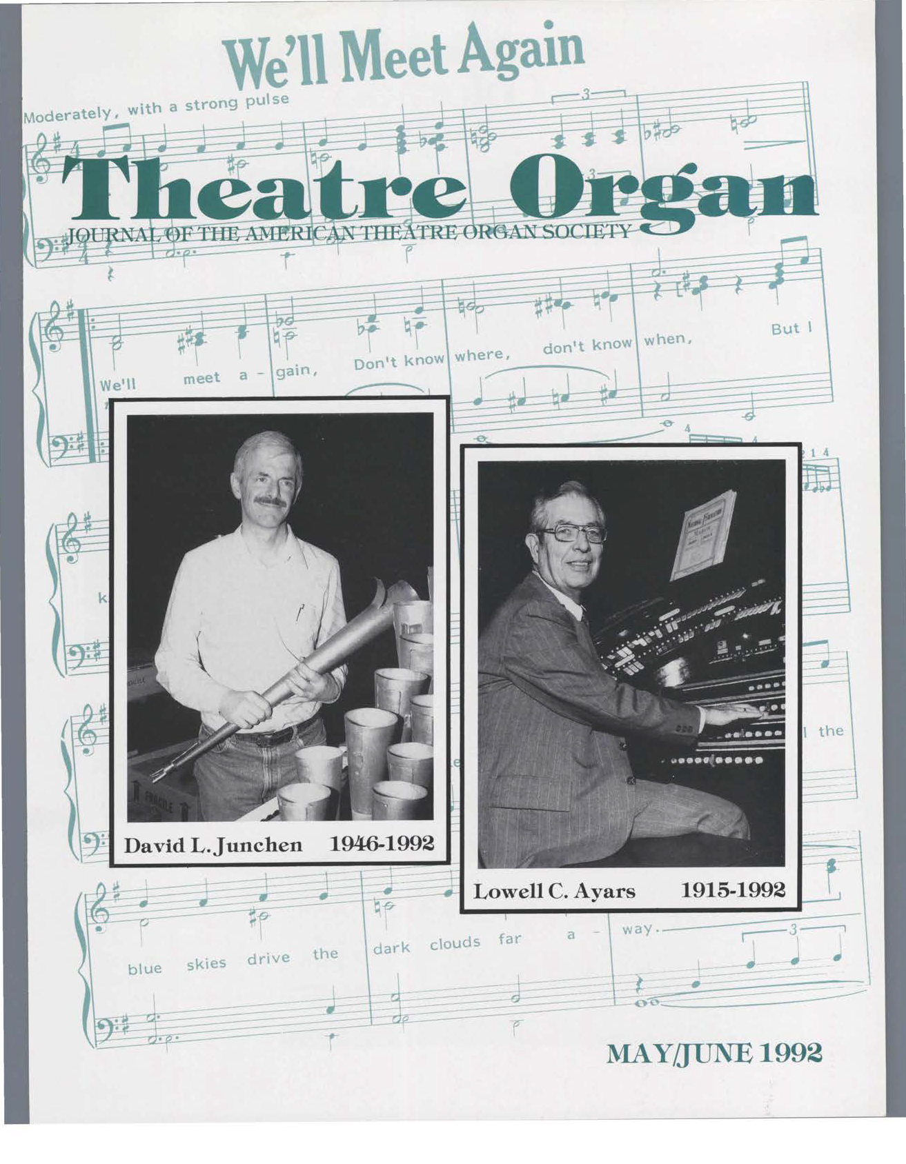 Theatre Organ, May - June 1992, Volume 34, Number 3