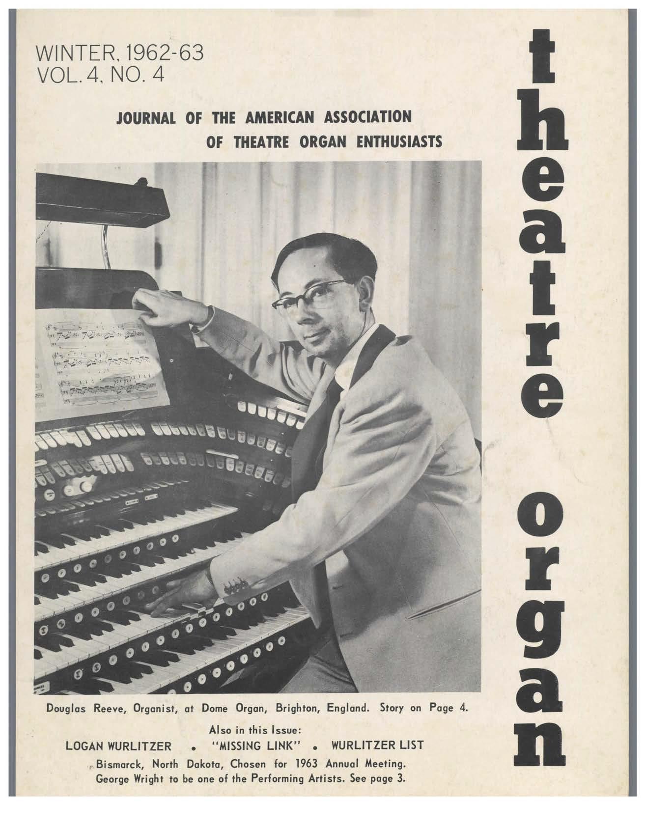 Theatre Organ, Winter 1962, Volume 4, Number 4