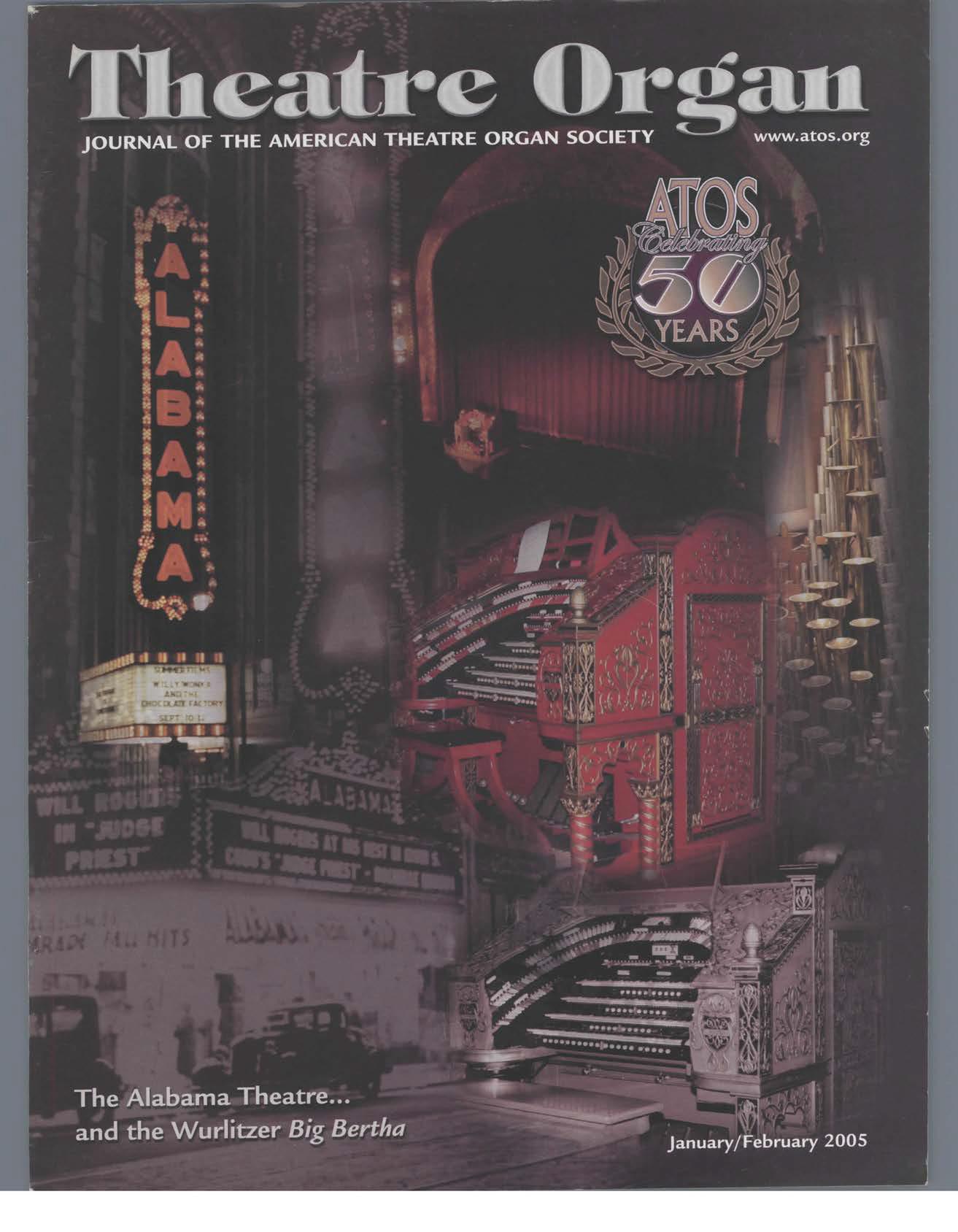 Theatre Organ, January - February 2005, Volume 47, Number 1