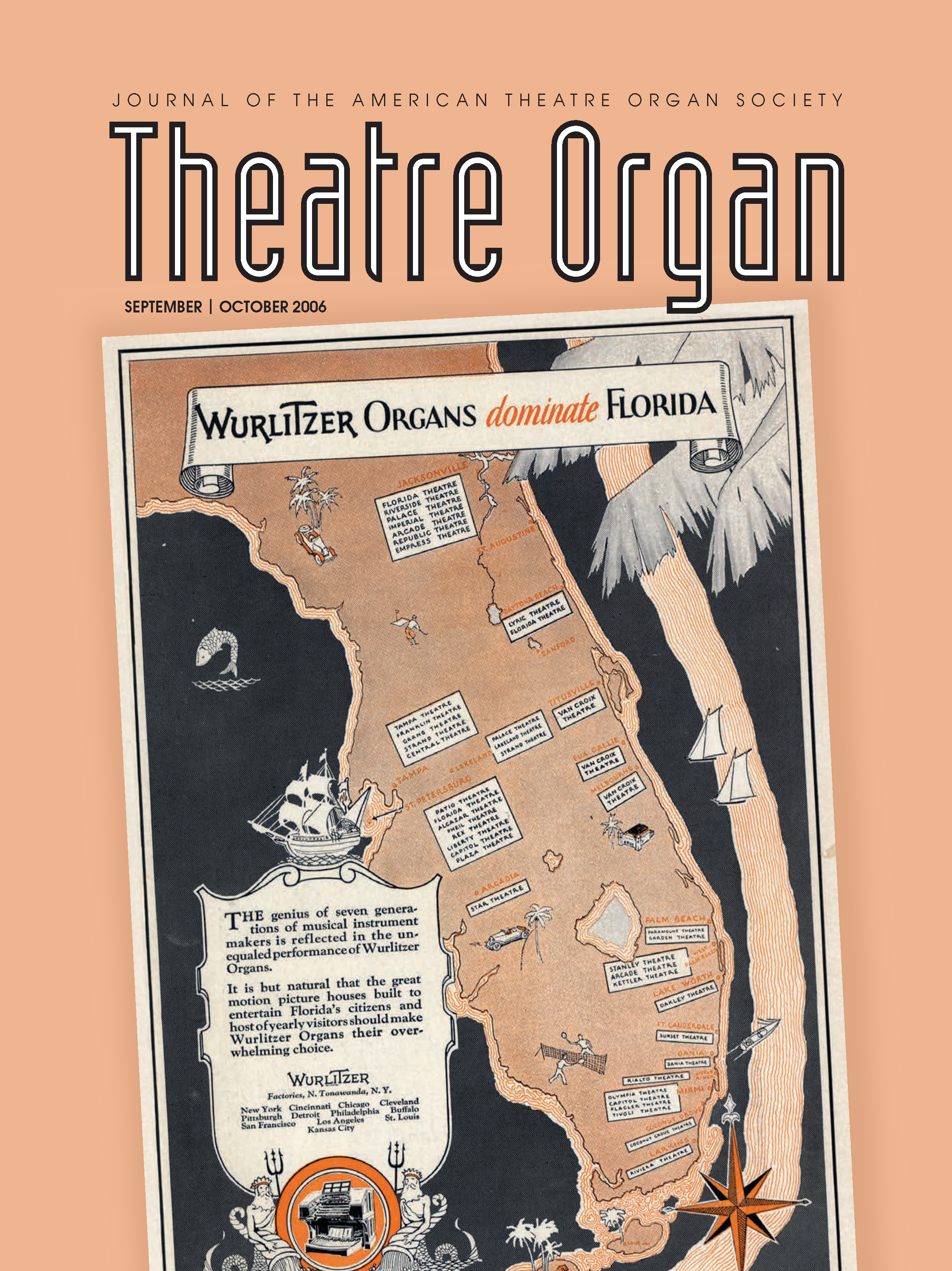 Theatre Organ, September - October 2006, Volume 48, Number 5