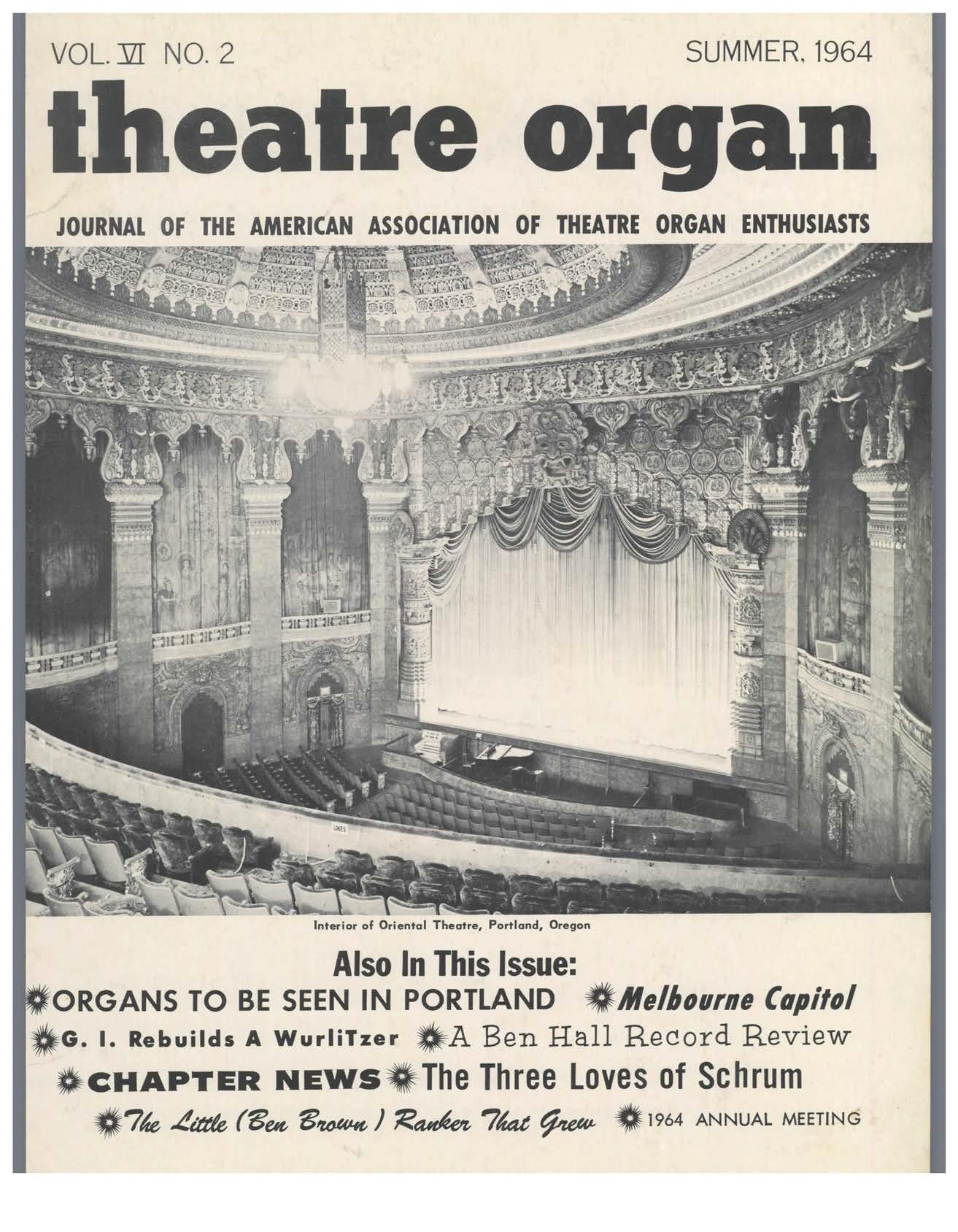 Theatre Organ, Summer 1964, Volume 6, Number 2