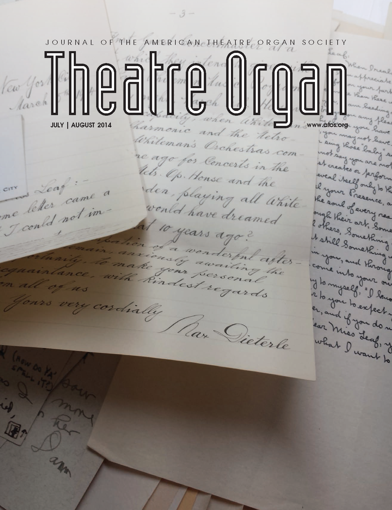 Theatre Organ, July - August 2014, Volume 56, Number 4