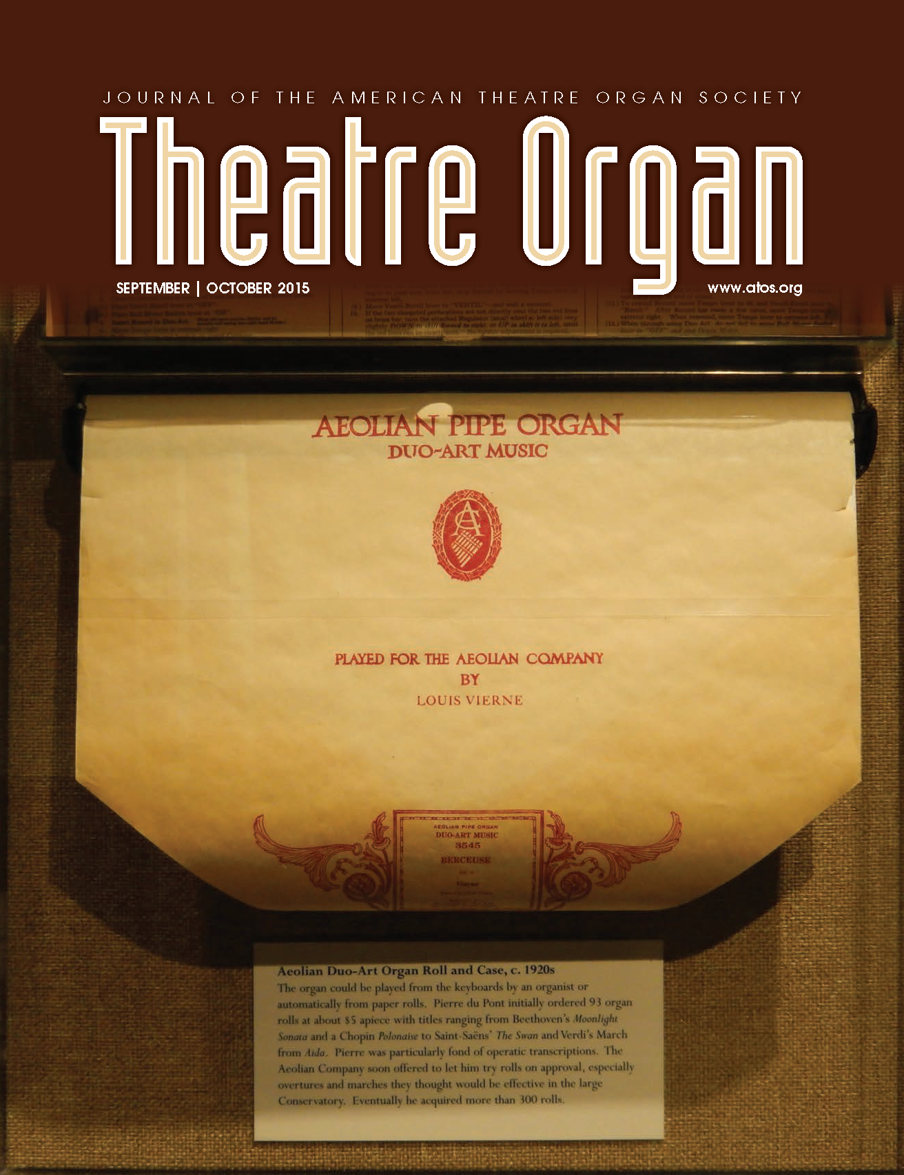 Theatre Organ, September - October 2015, Volume 57, Number 5