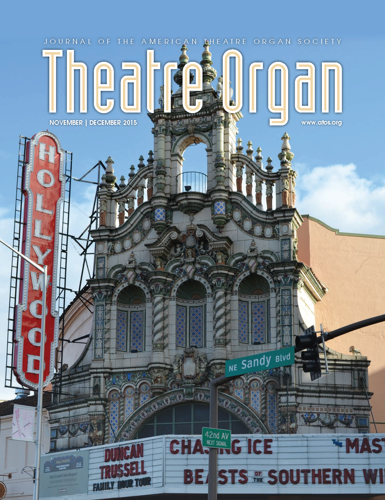Theatre Organ, November - December 2015, Volume 57, Number 6