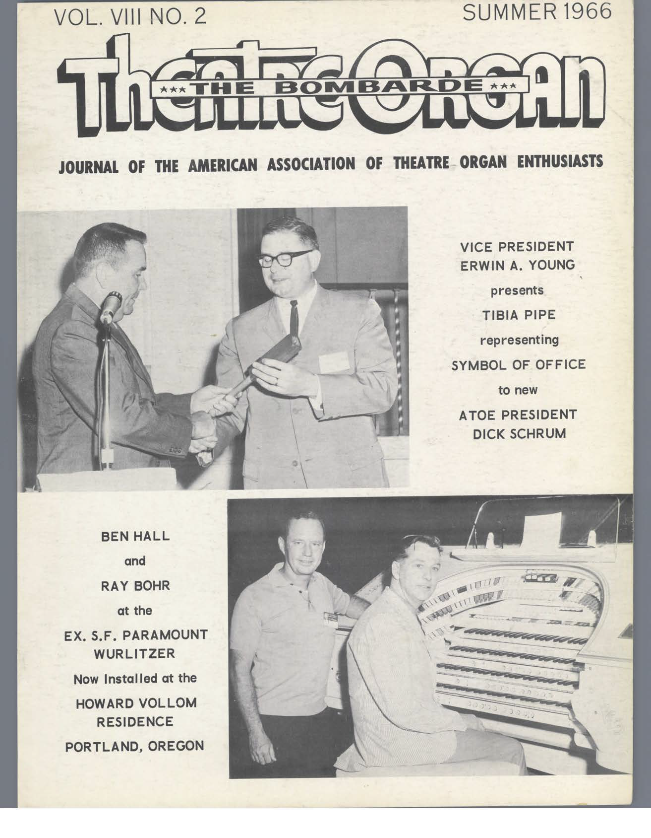 Theatre Organ, Summer 1966, Volume 8, Number 2