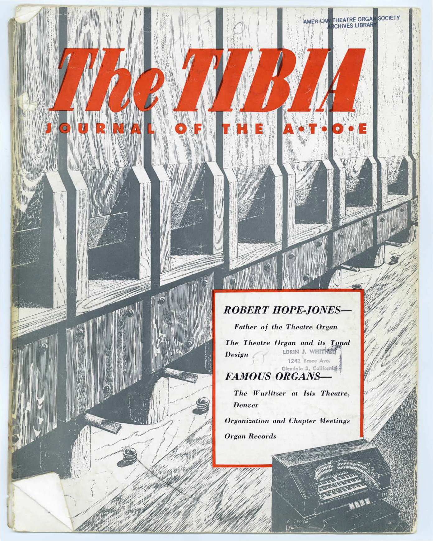 The Tibia (Theatre Organ), Fall 1955, Volume 1, Number 1