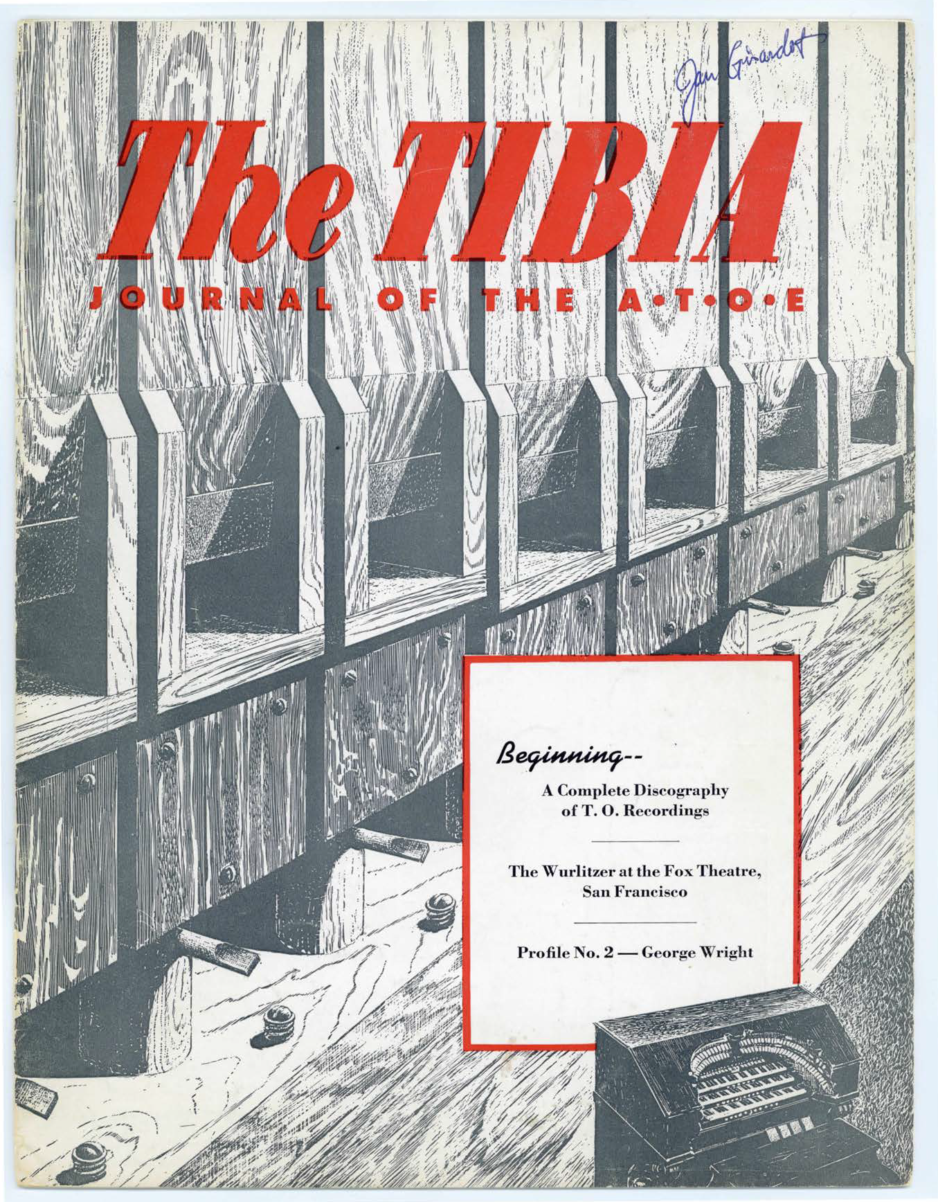 The Tibia (Theatre Organ), Summer 1956, Volume 1, Number 2