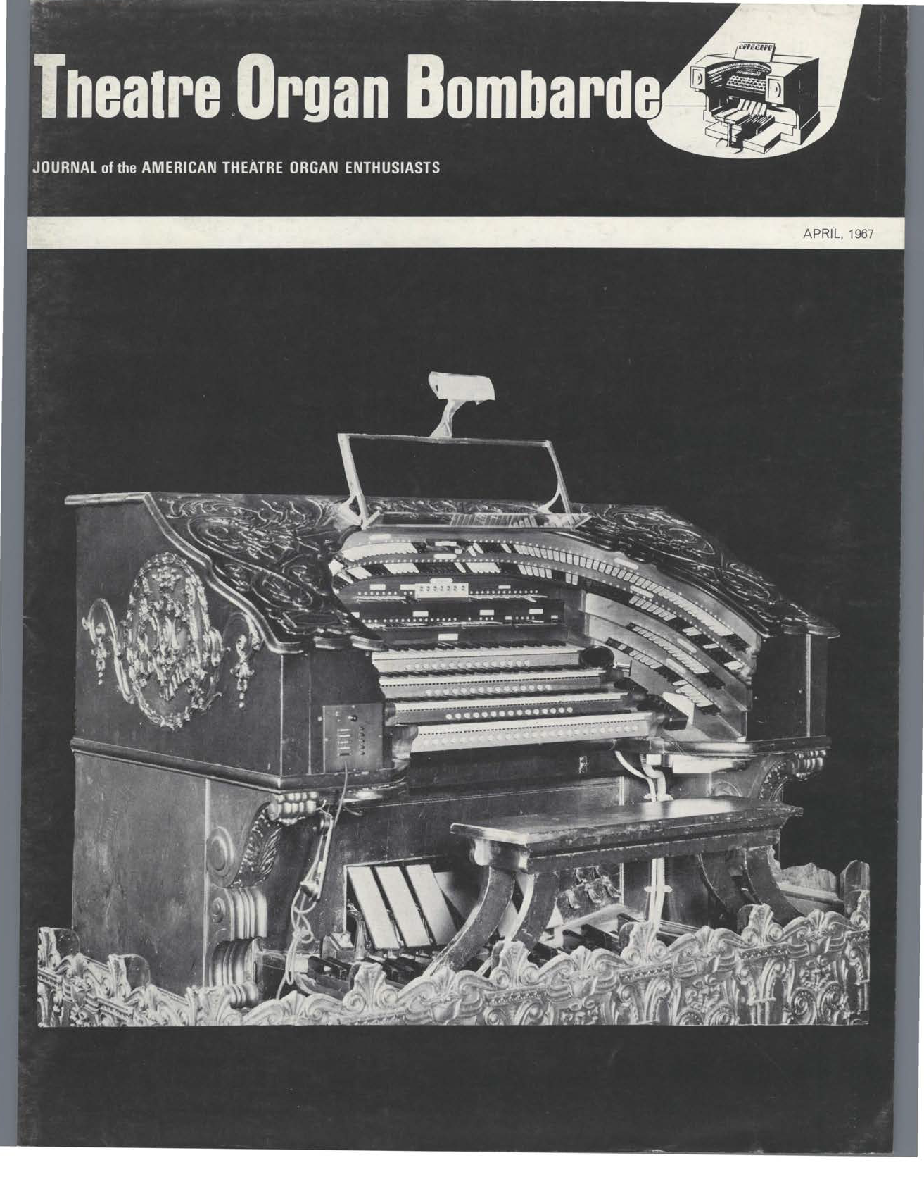 Theatre Organ, April 1967, Volume 9, Number 2