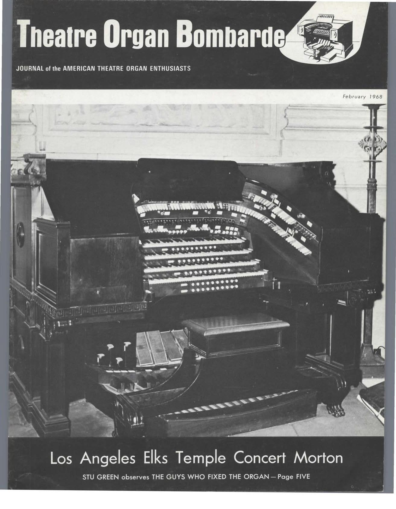 Theatre Organ, February 1967, Volume 10, Number 1