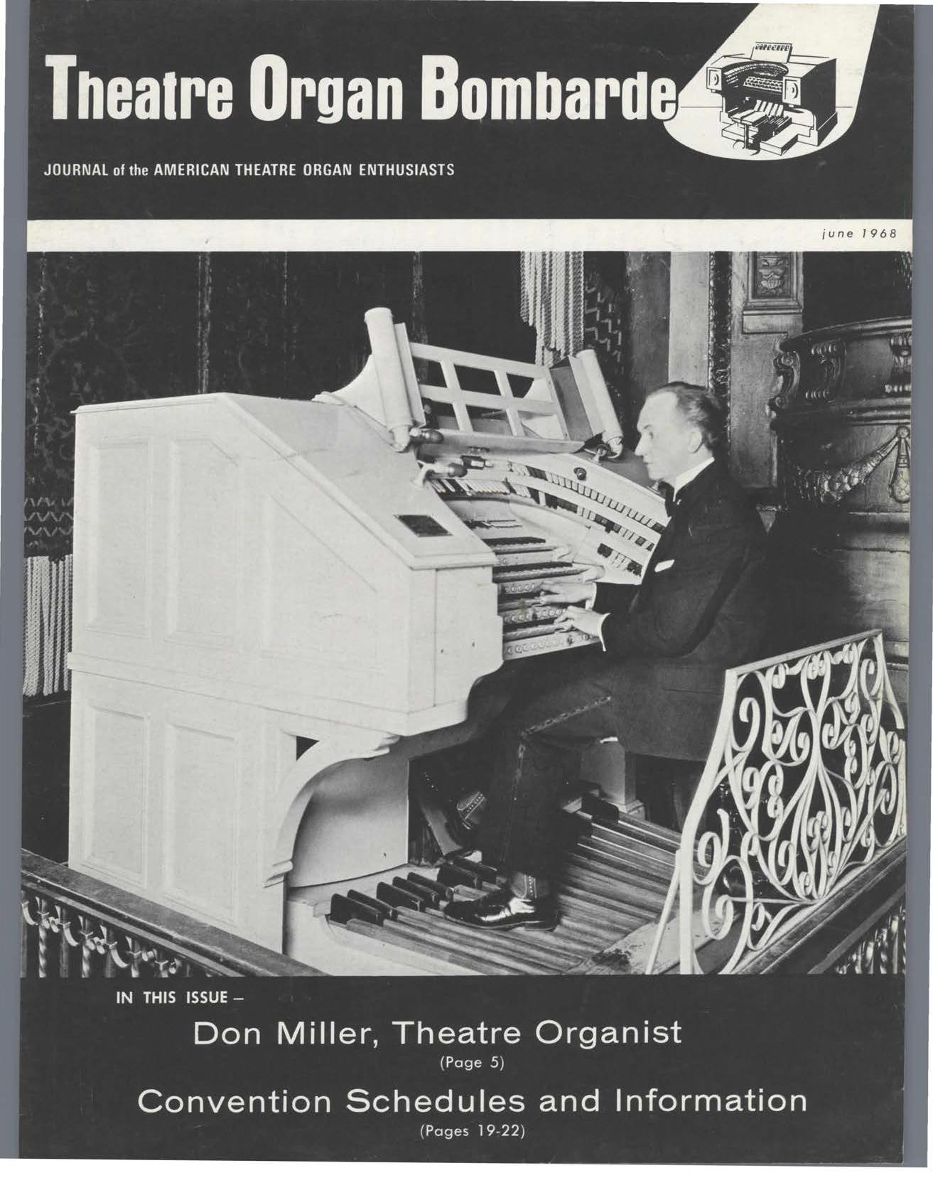 Theatre Organ, June 1968, Volume 10, Number 3
