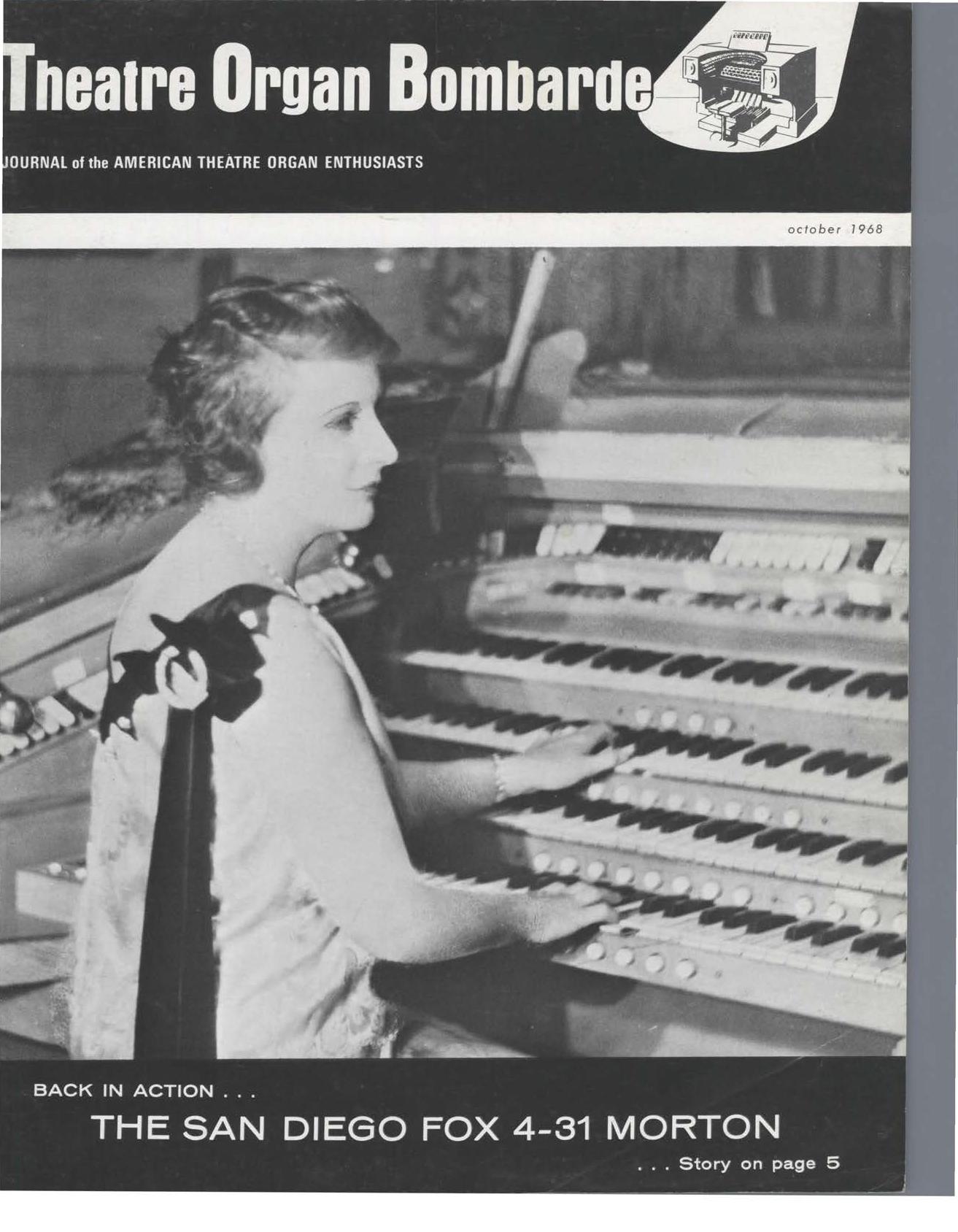 Theatre Organ, October 1968, Volume 10, Number 5