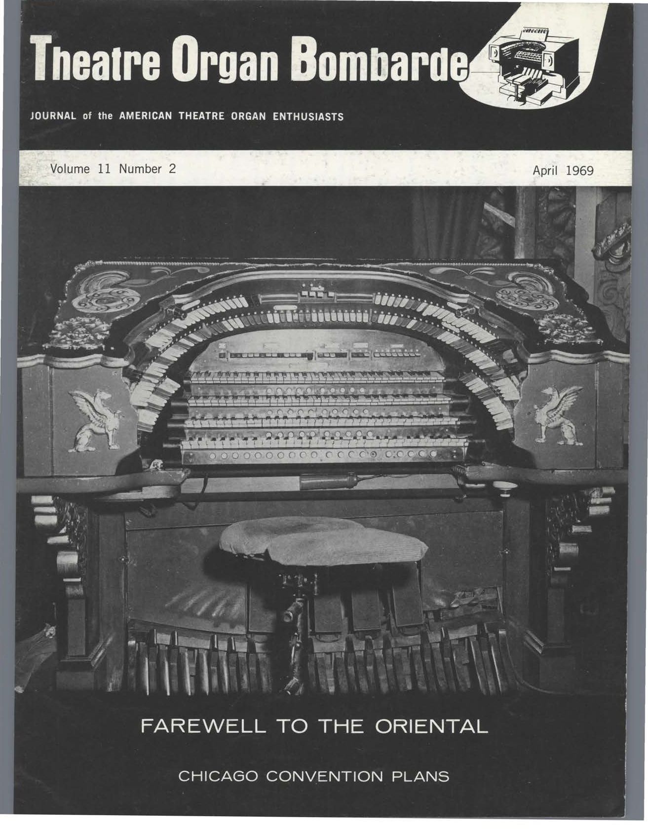 Theatre Organ, April 1969, Volume 11, Number 2