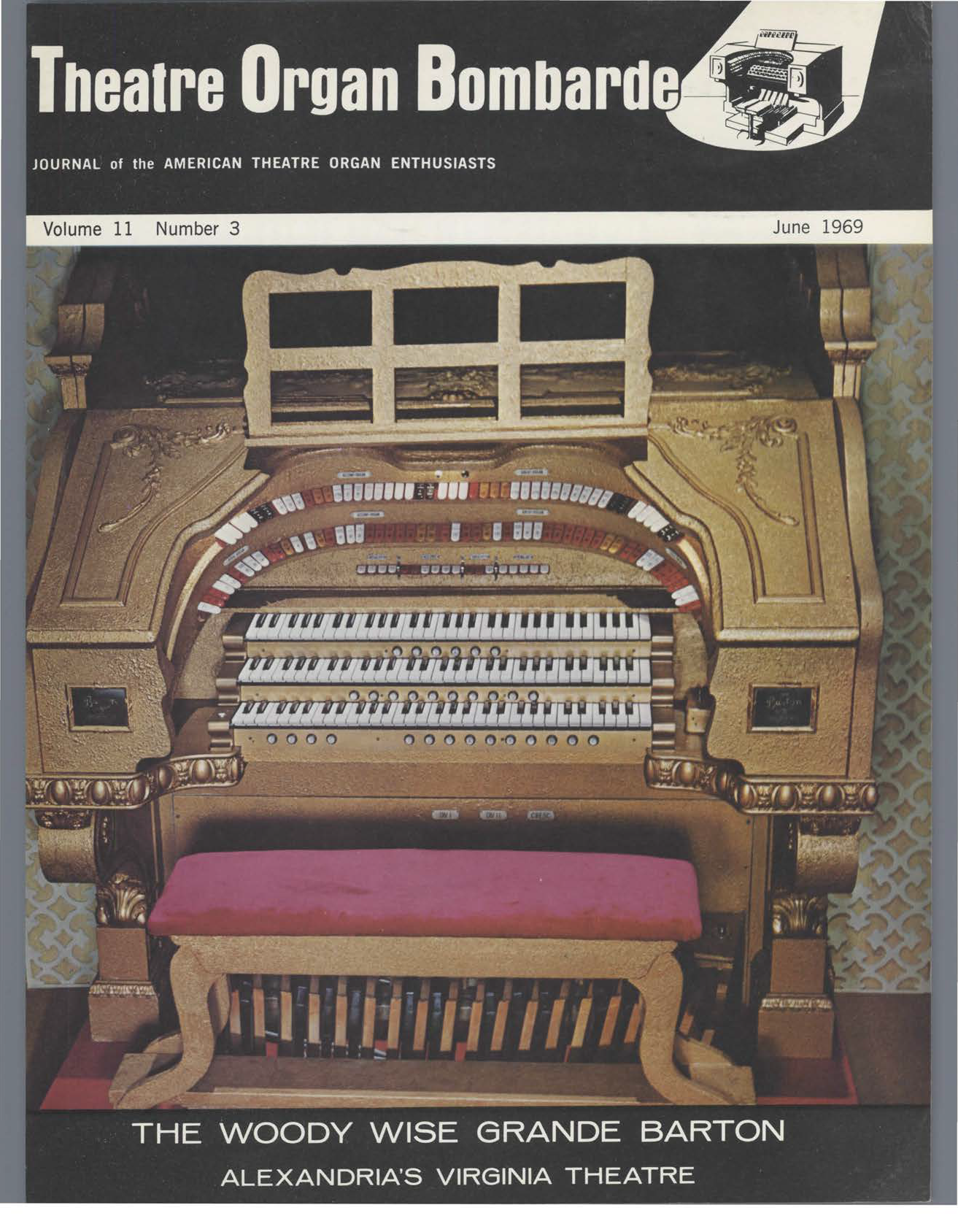 Theatre Organ, June 1969, Volume 11, Number 3
