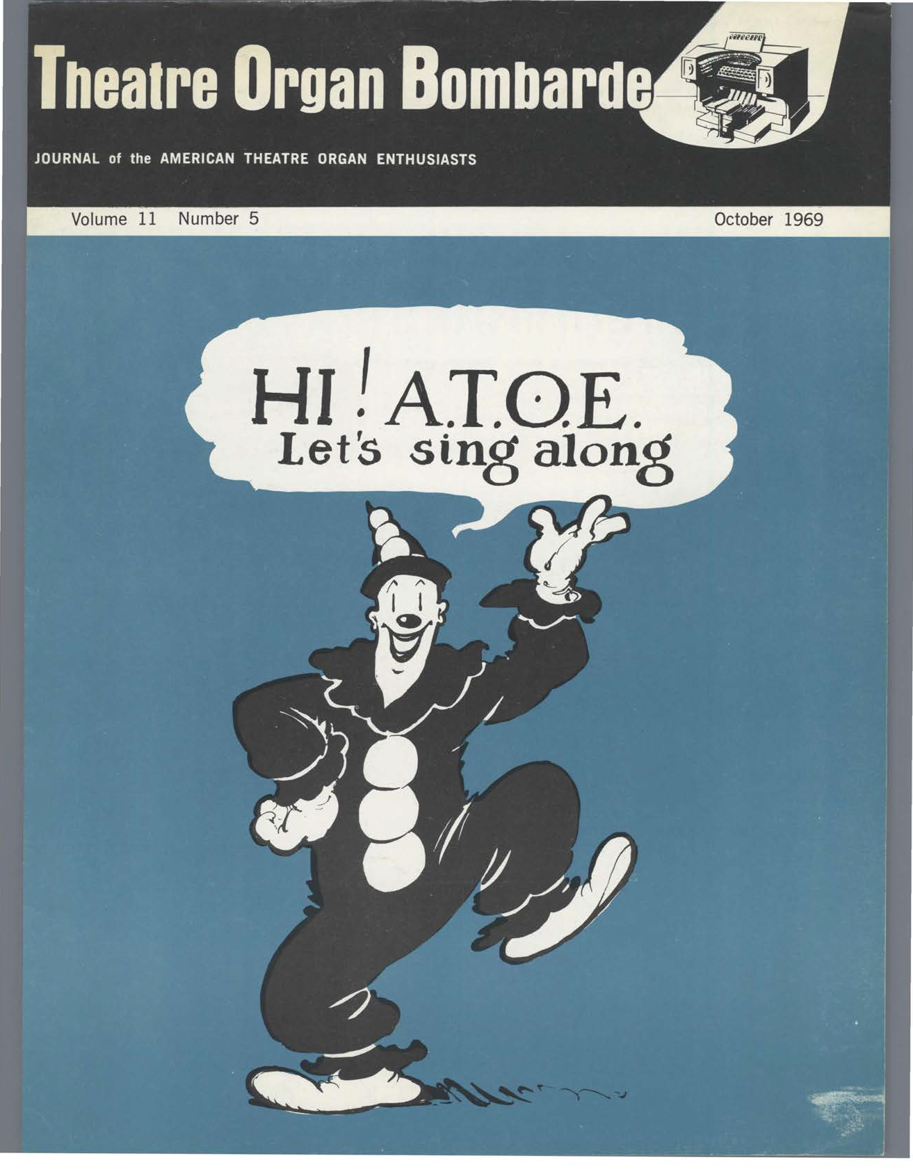 Theatre Organ, October 1969, Volume 11, Number 5