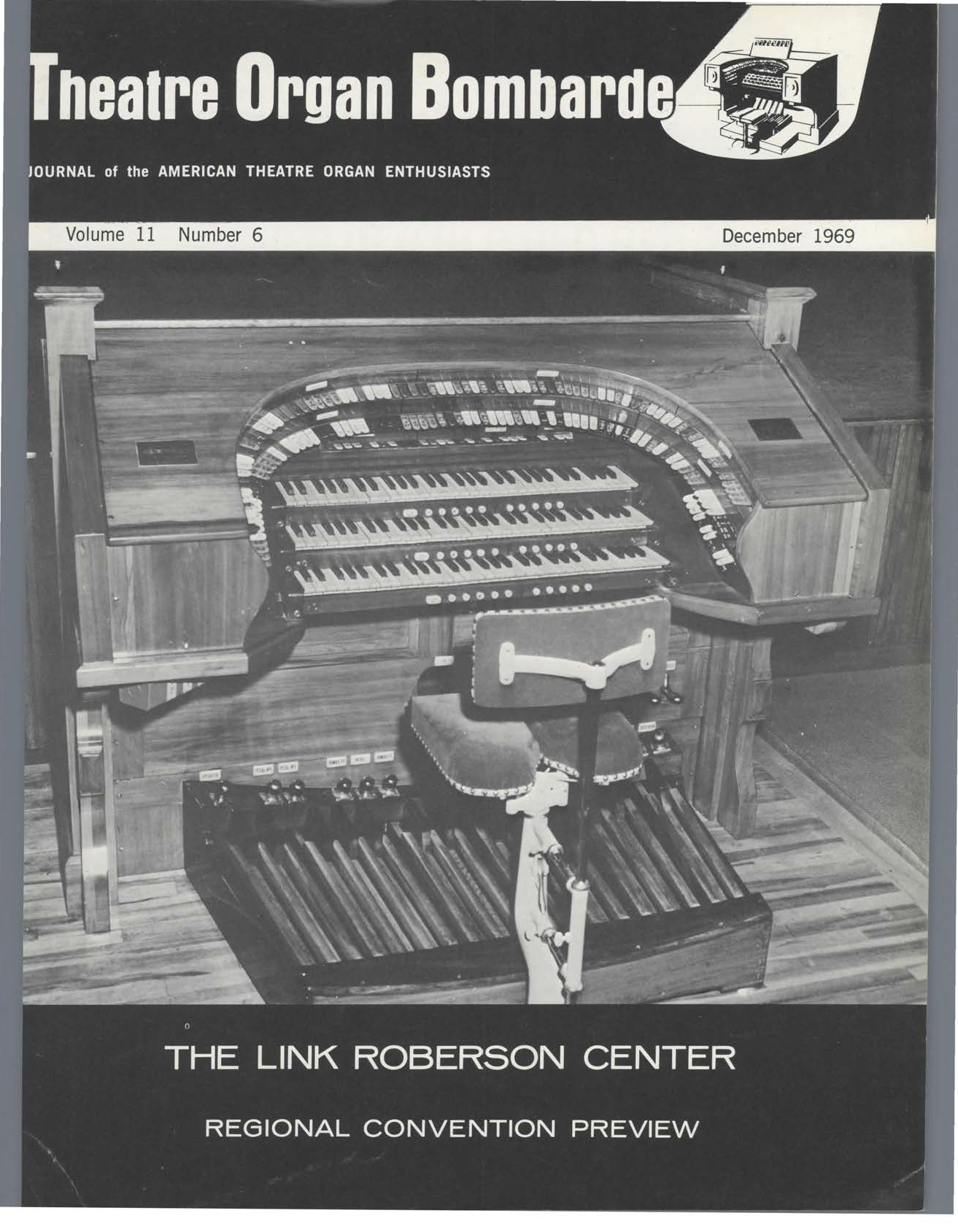 Theatre Organ, December 1969, Volume 11, Number 6