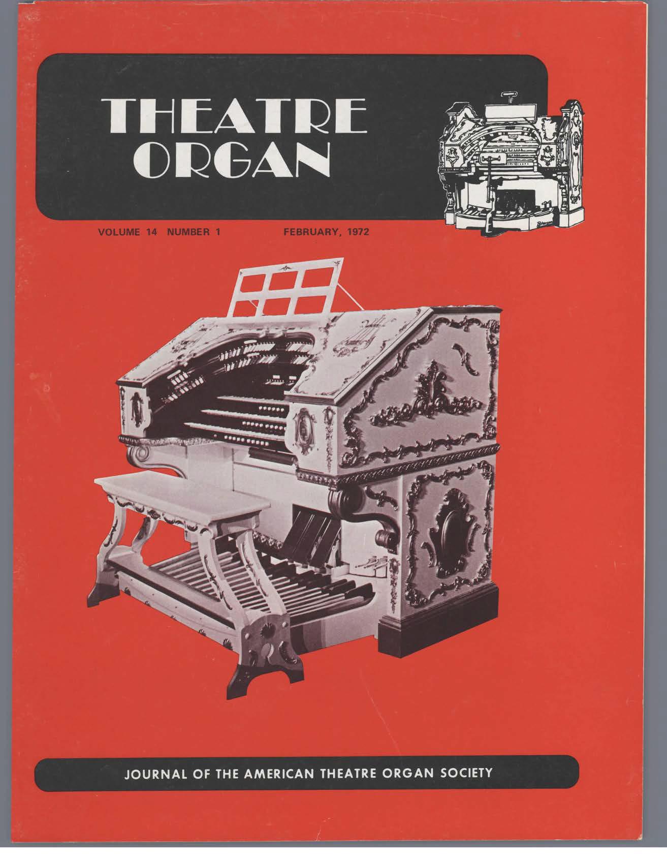 Theatre Organ, February 1972, Volume 14, Number 1