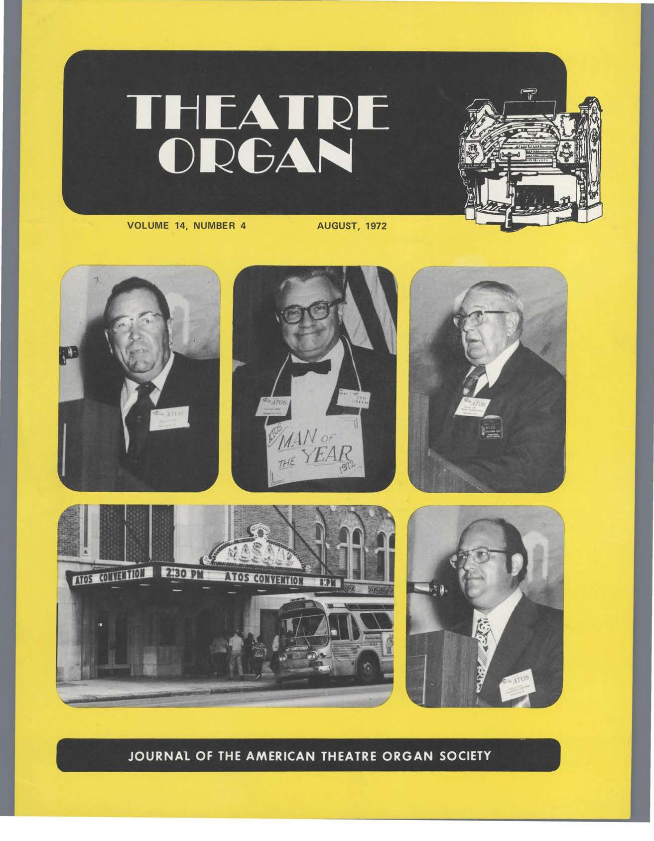 Theatre Organ, August 1972, Volume 14, Number 4