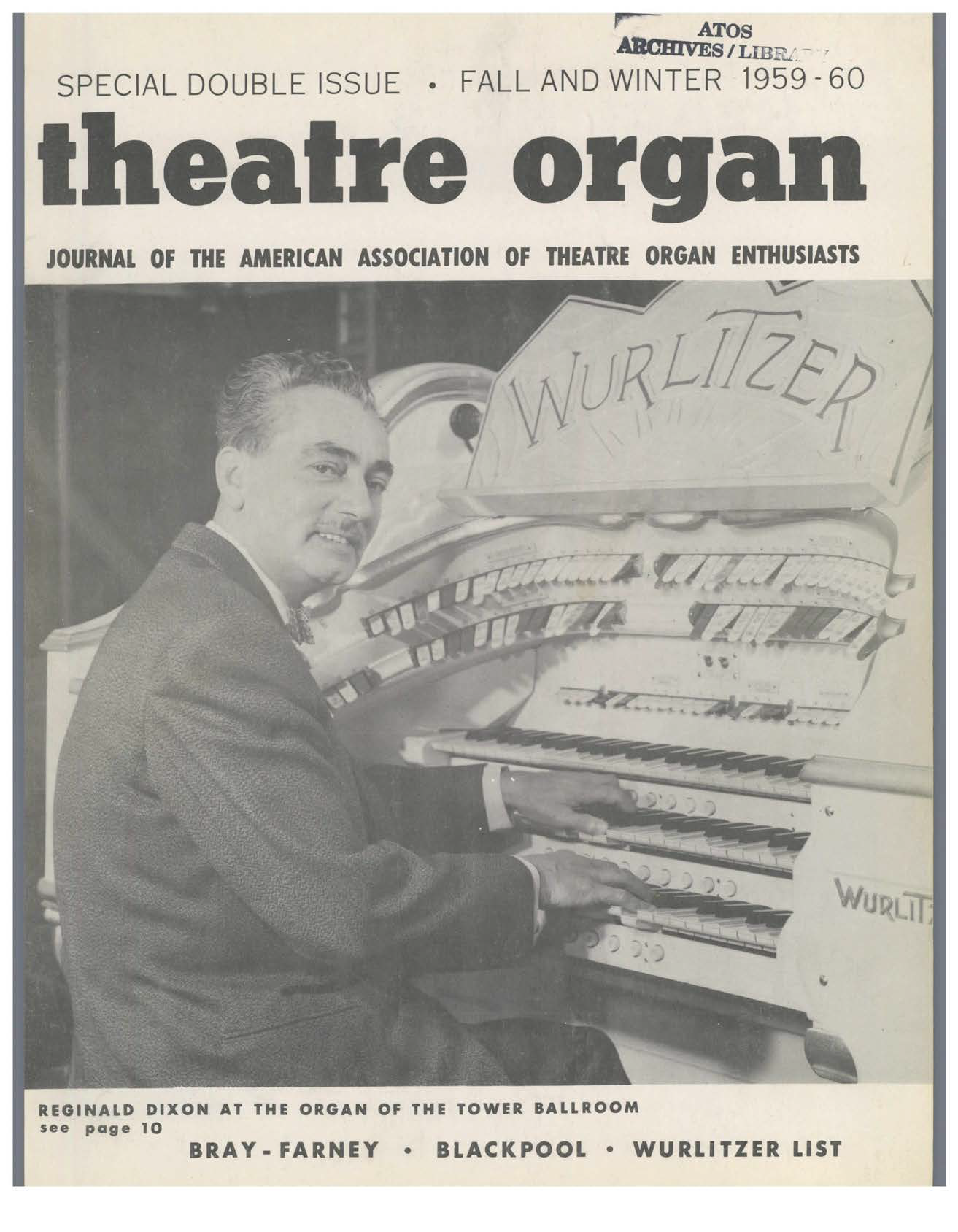 Theatre Organ, Fall and Winter 1959, Volume 1, Number 3 & 4
