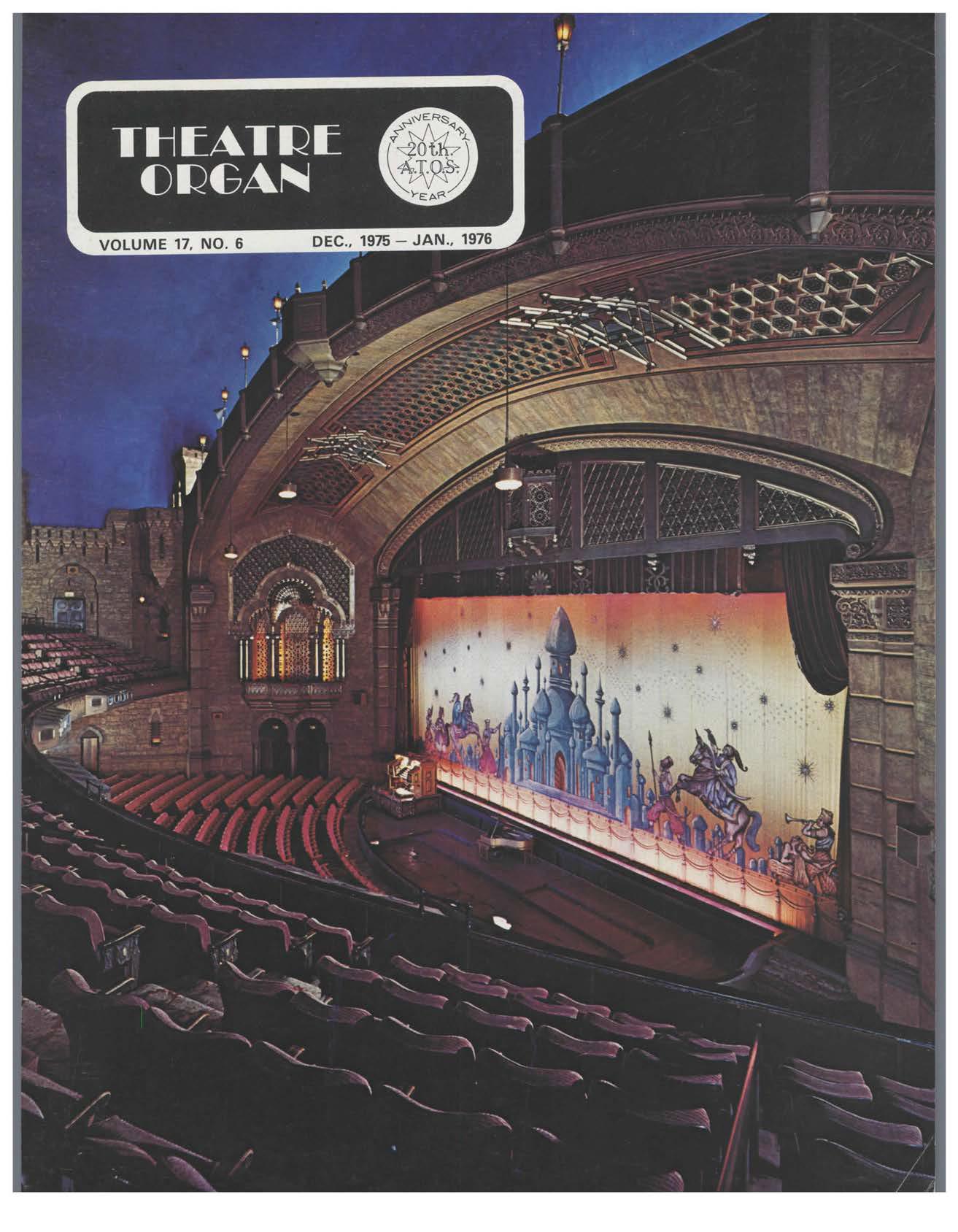 Theatre Organ, December - January 1975, Volume 17, Number 6
