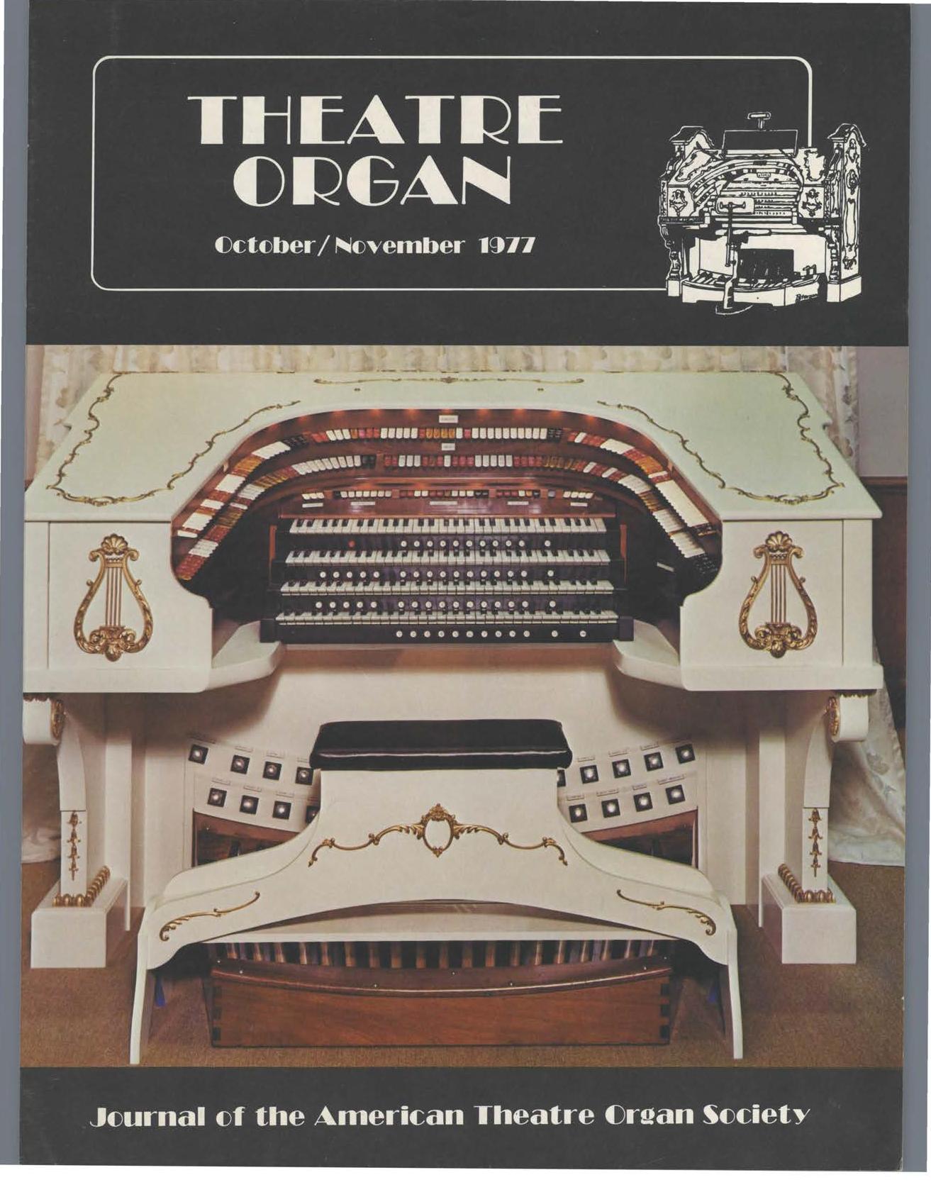 Theatre Organ, October - November 1977, Volume 19, Number 5