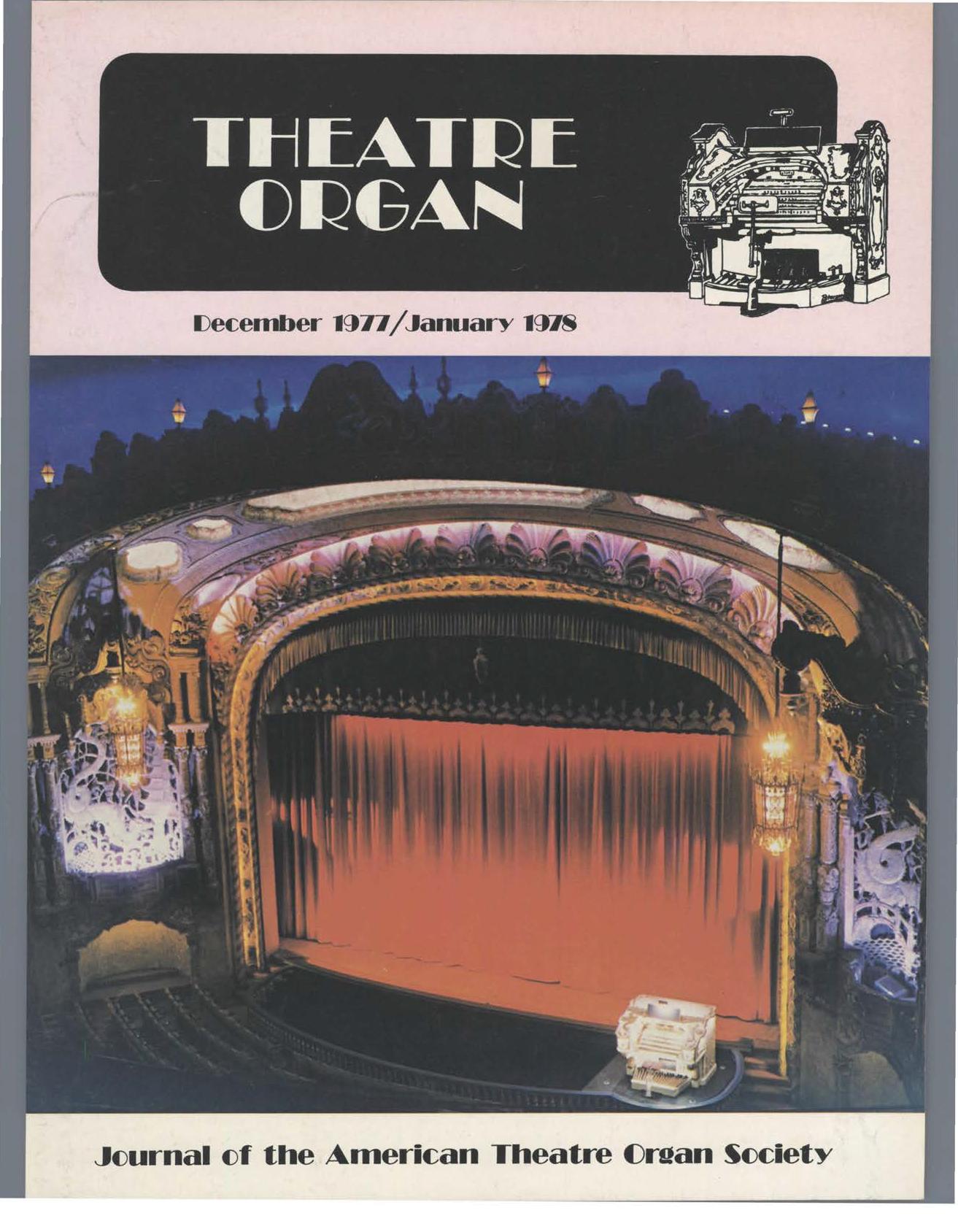 Theatre Organ, December - January 1977, Volume 19, Number 6