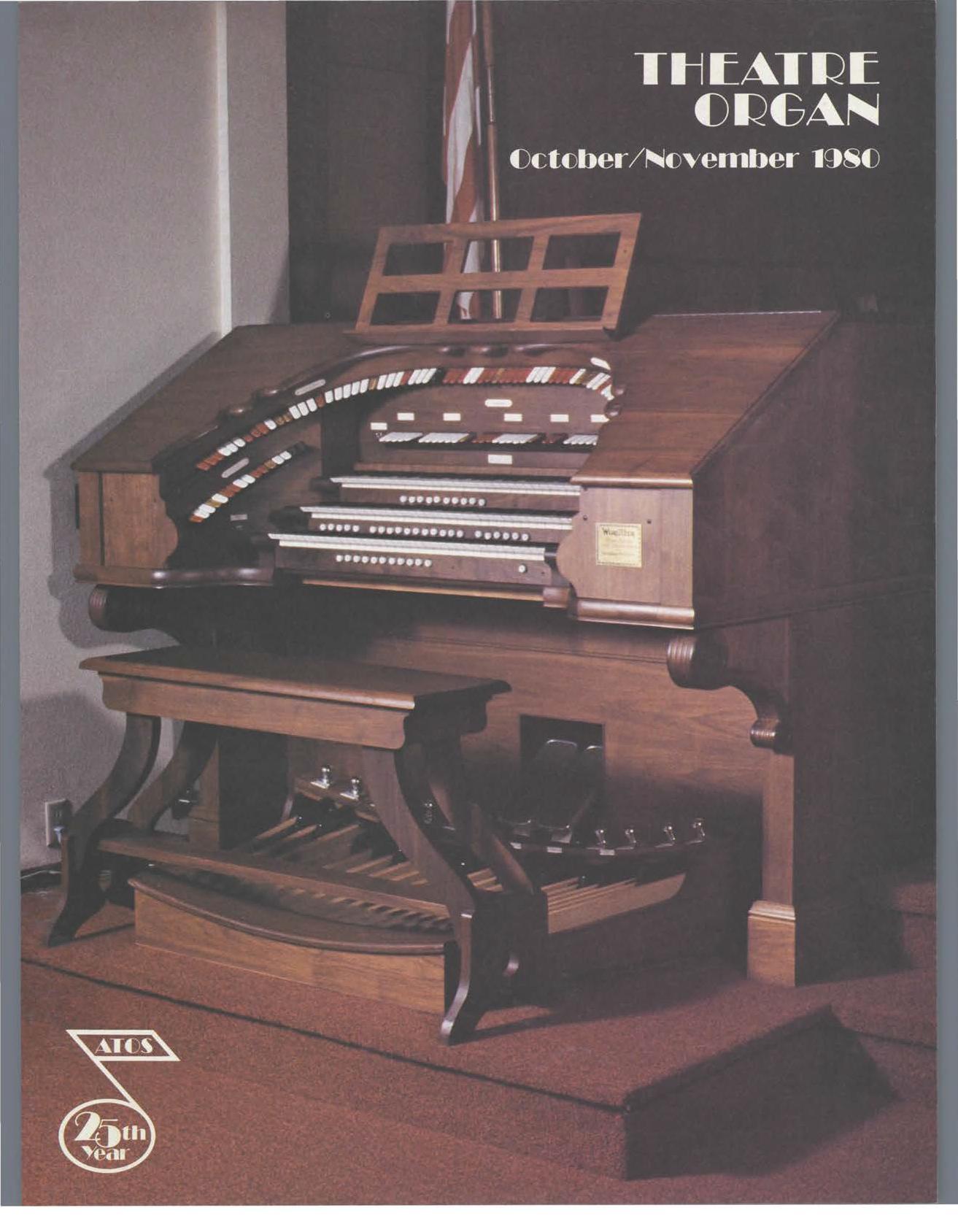 Theatre Organ, October - November 1980, Volume 22, Number 5
