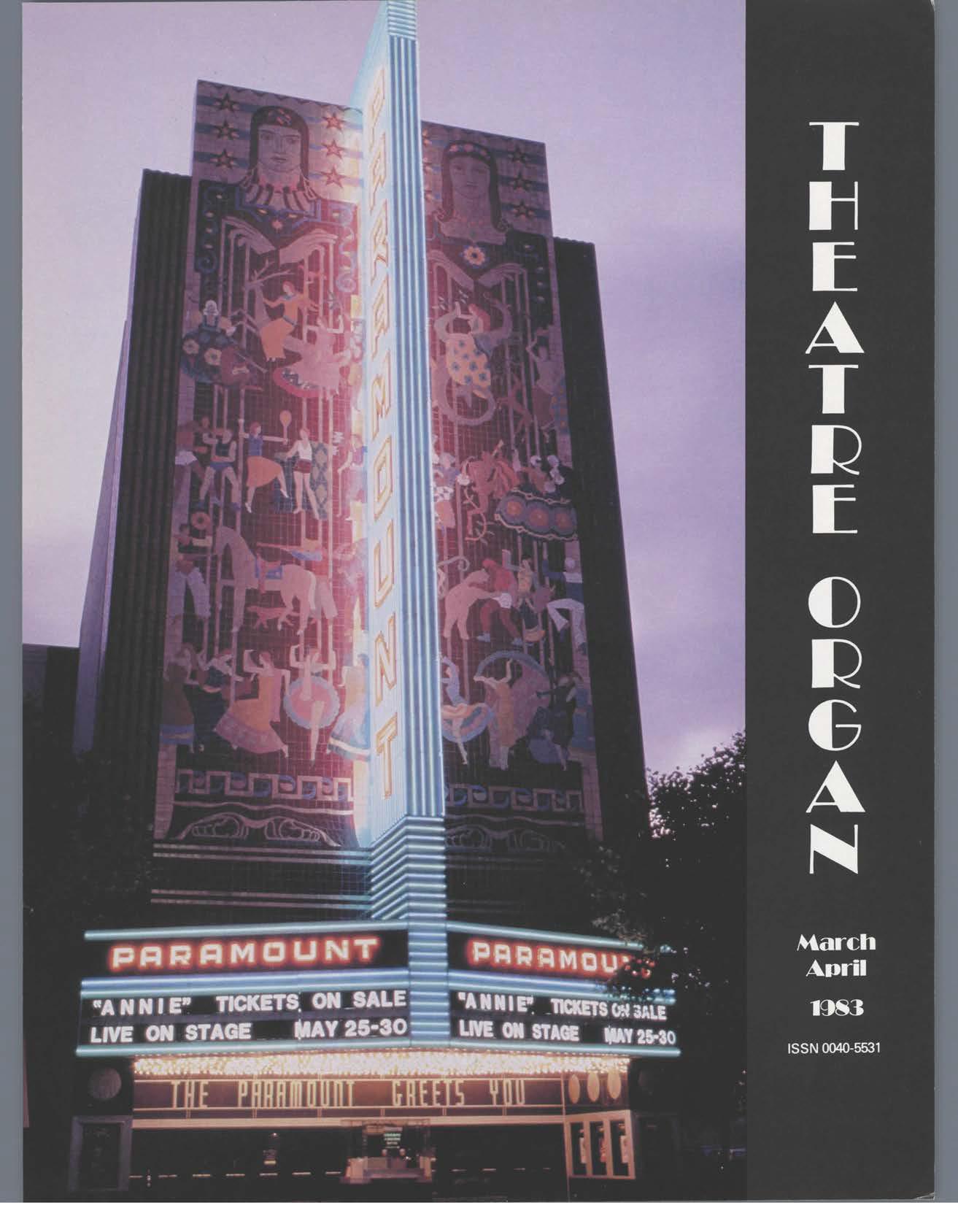 Theatre Organ, March - April 1983, Volume 25, Number 2